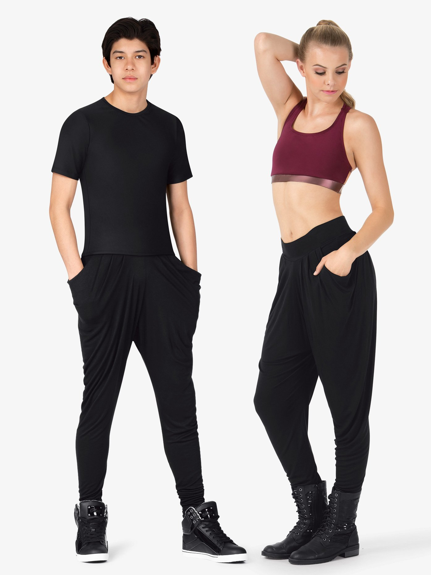 Dance Department Adult Stretch Harem Hip-Hop Pants D3019