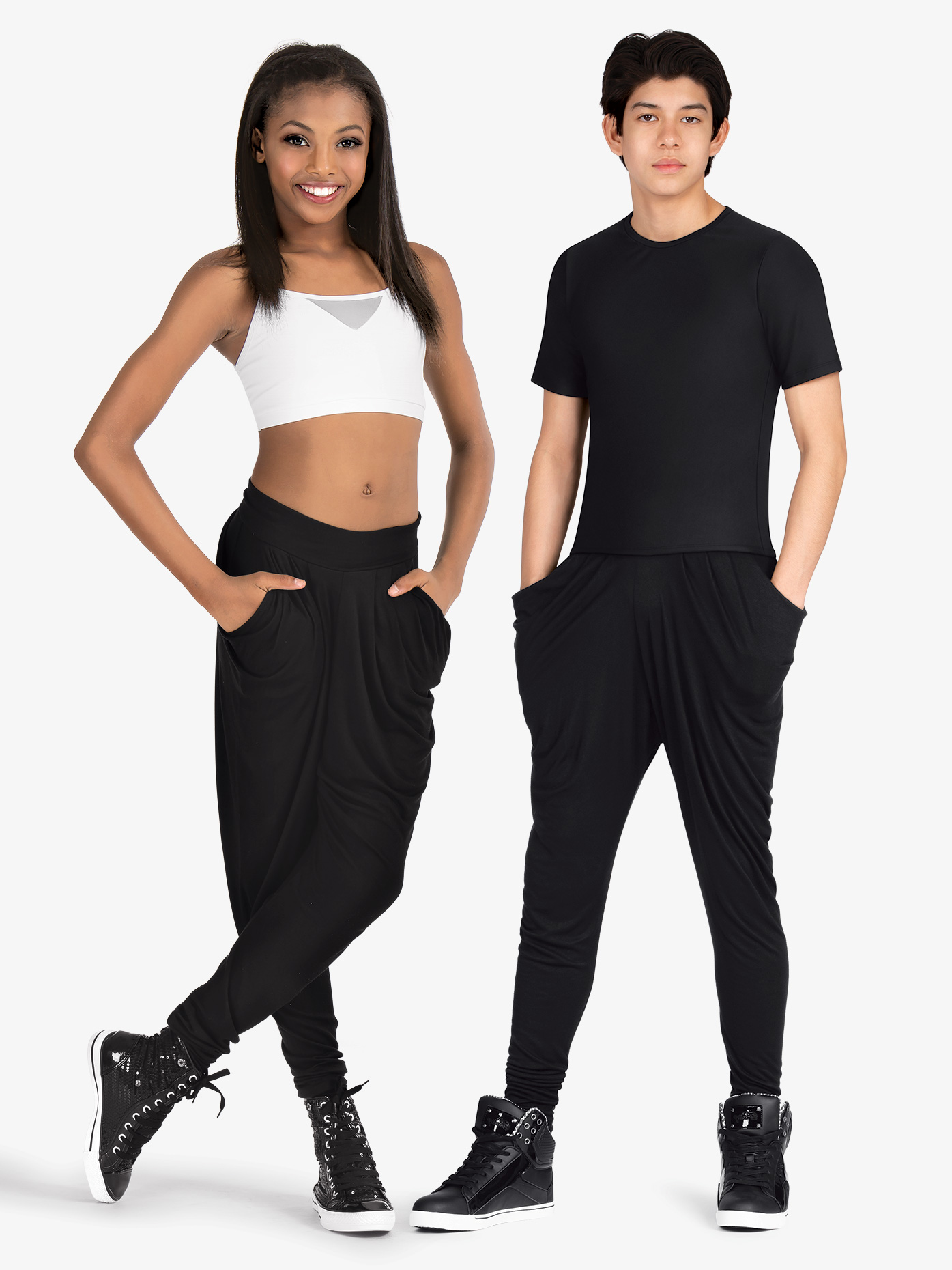 Dance Department Child Stretch Harem Hip-Hop Pants D3019C