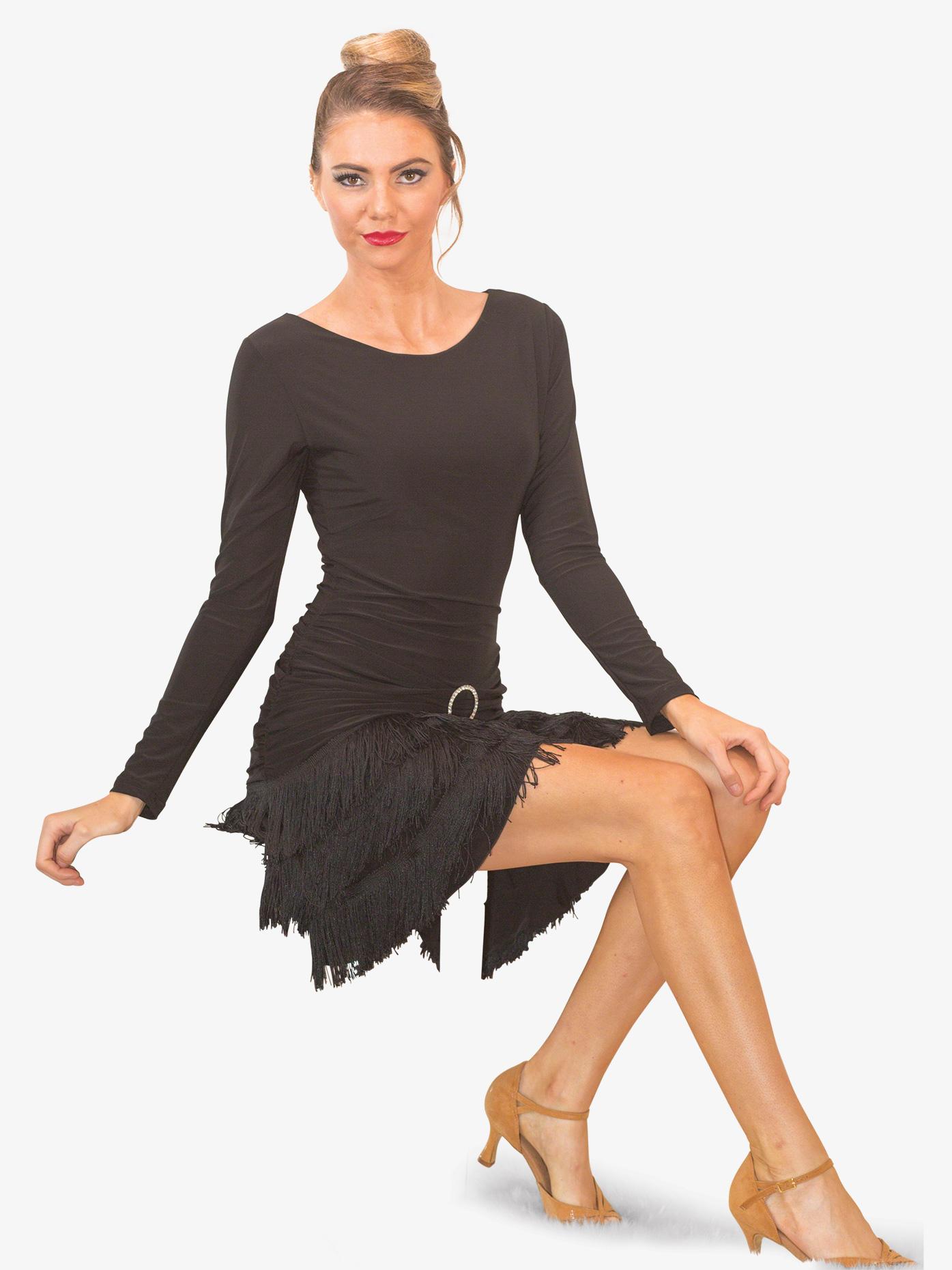 Long Sleeve Fringe Ballroom Dress Dresses Dance