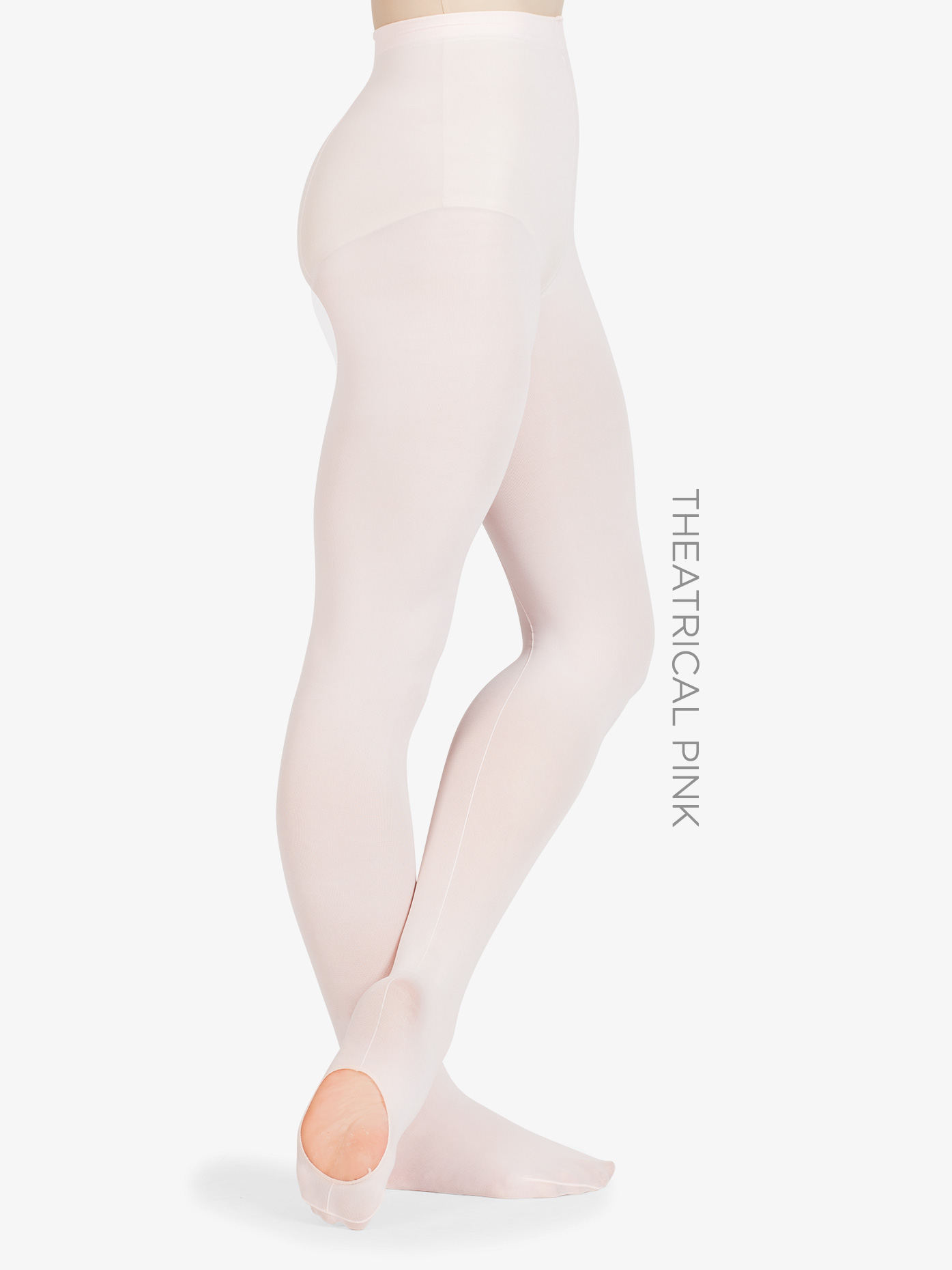 Danskin Adult Faux Backseam Convertible Tights D725