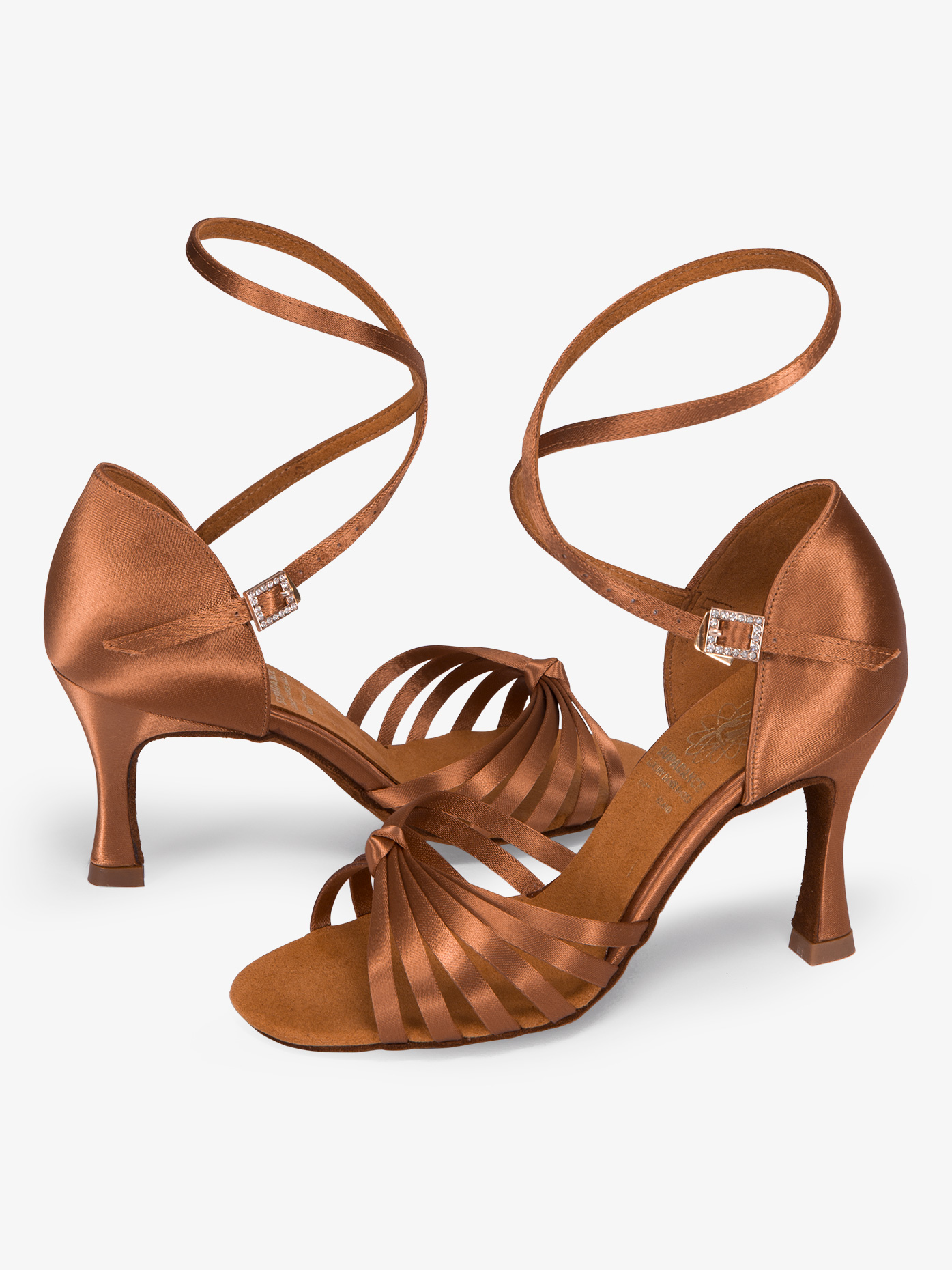 Supadance Womens Strappy Satin Ballroom Dance Shoes DA1066