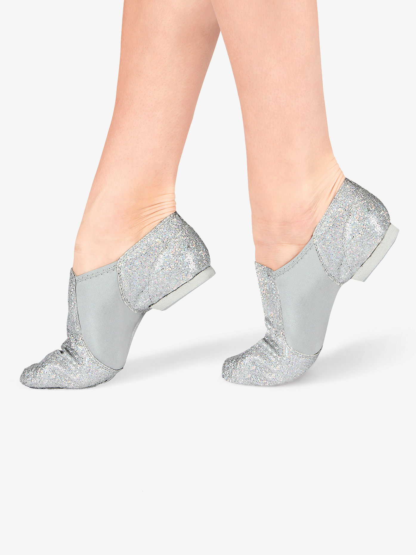 Double Platinum Adult Glitter Jazz Shoes DAZZLE