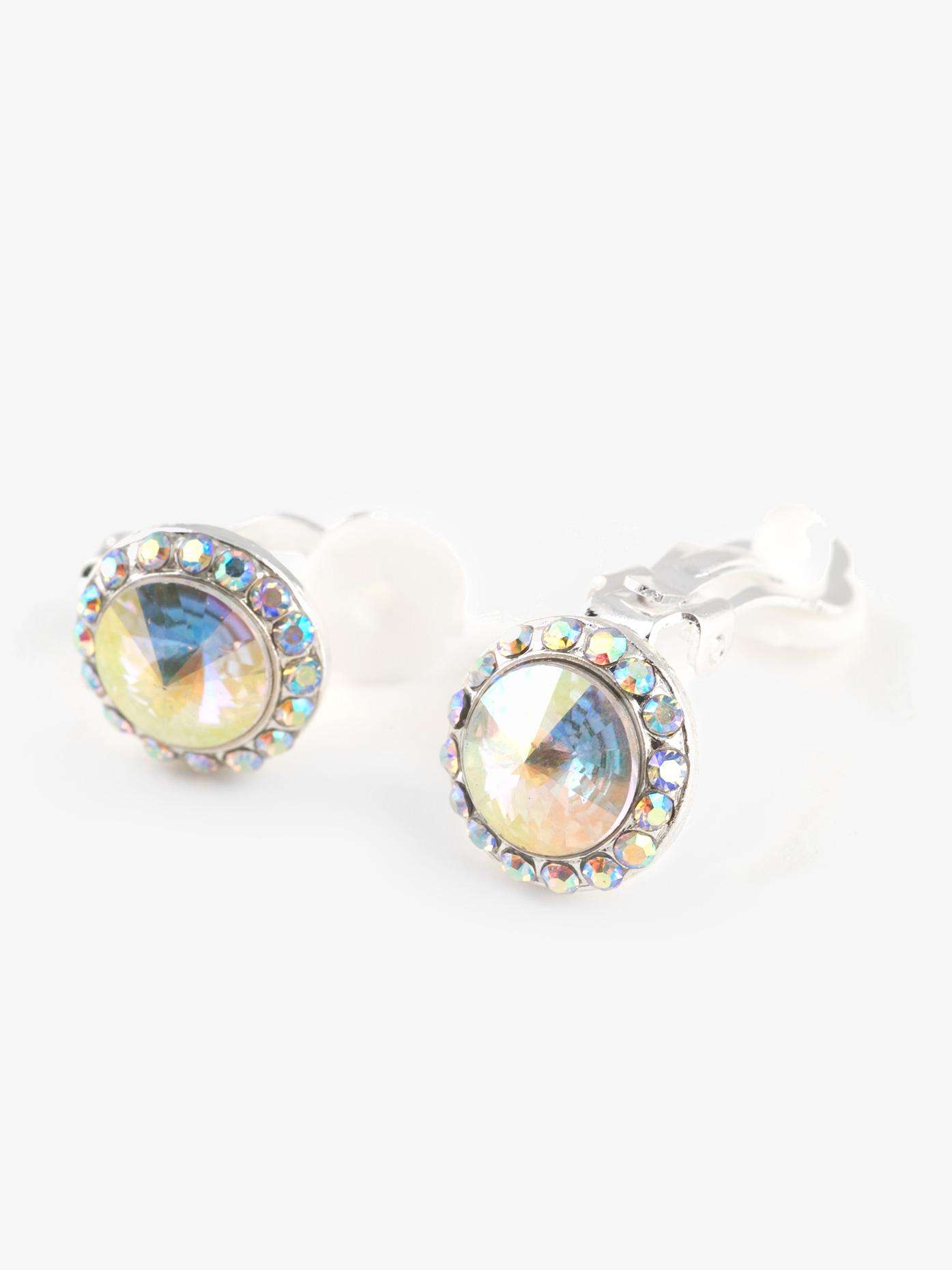 Go Girl Iridescent Stone 18mm Clip Earring EC12AI