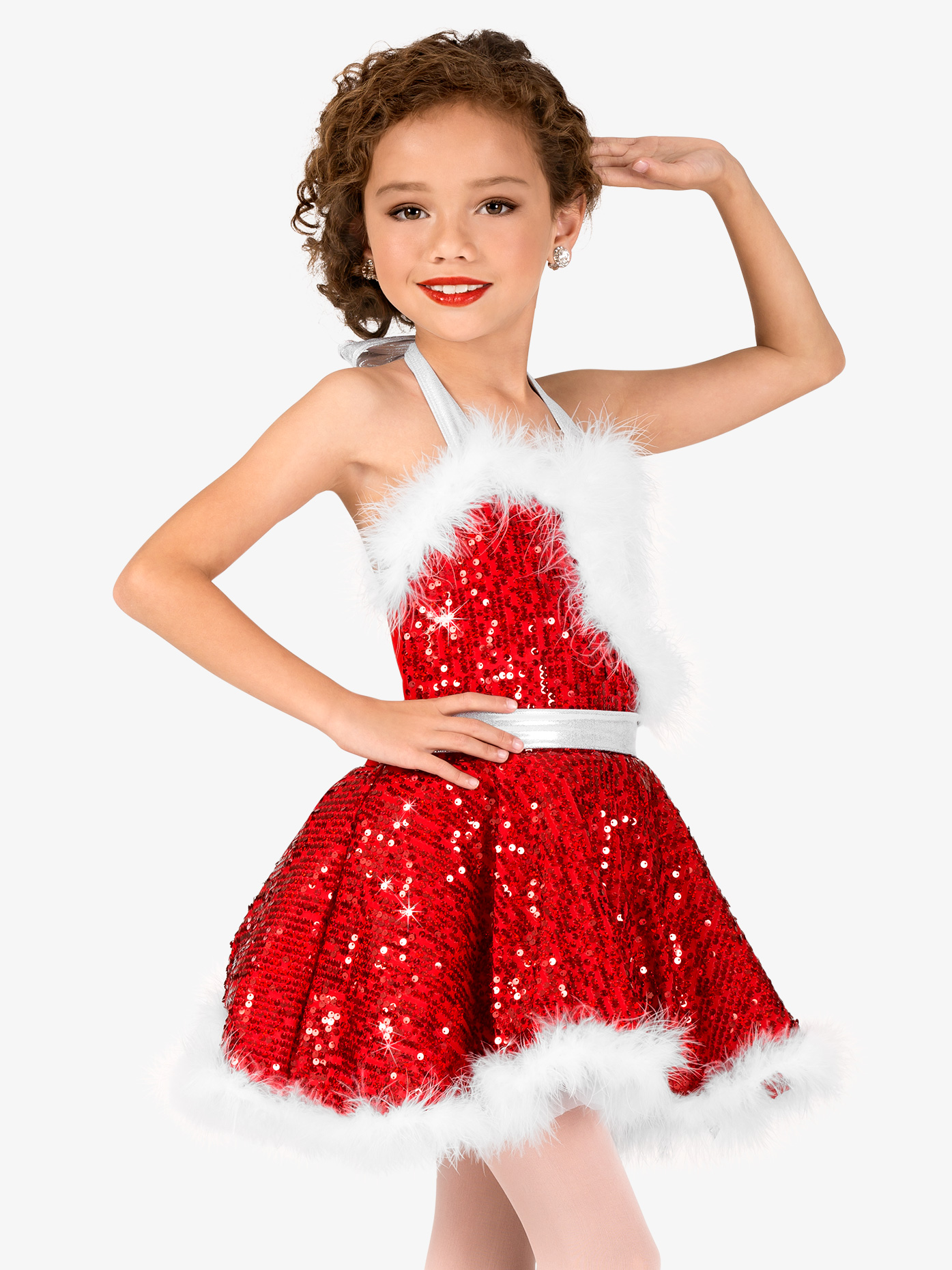 """holiday cheer"" sequin character dance costume dress"
