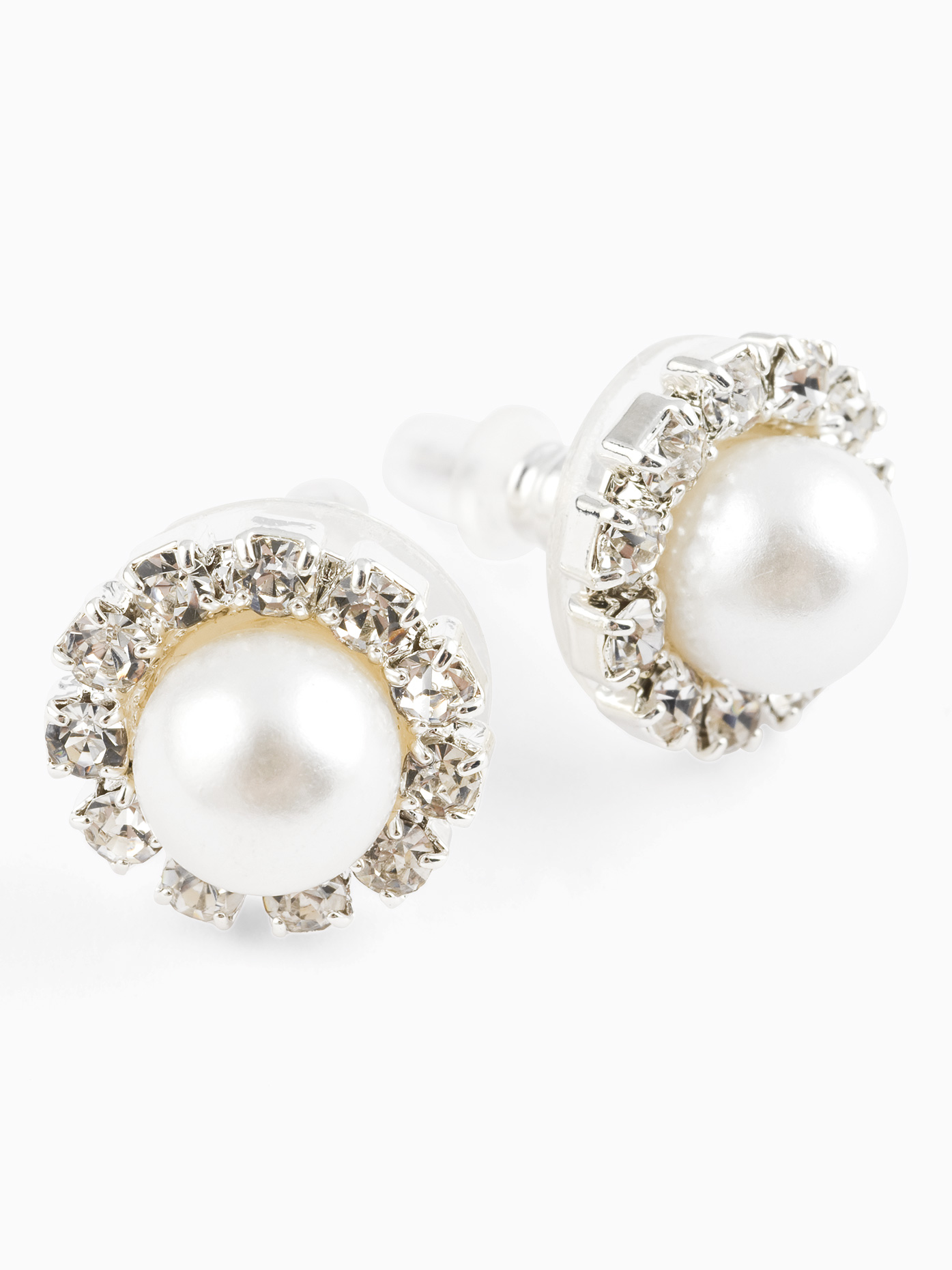 product round brilliant diamonds cluster in earrings modern gold cut white