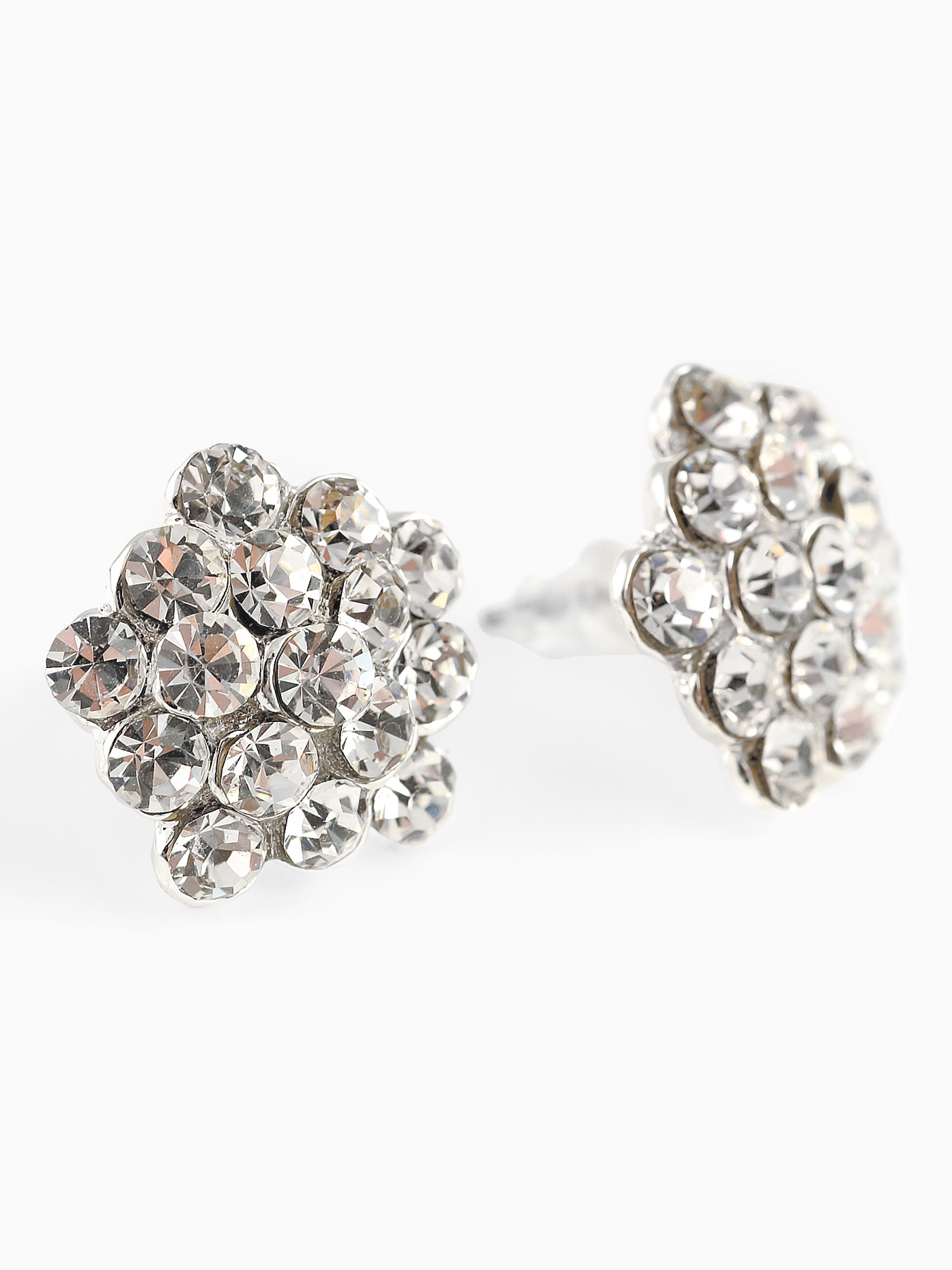 naples index earrings i cluster diamond