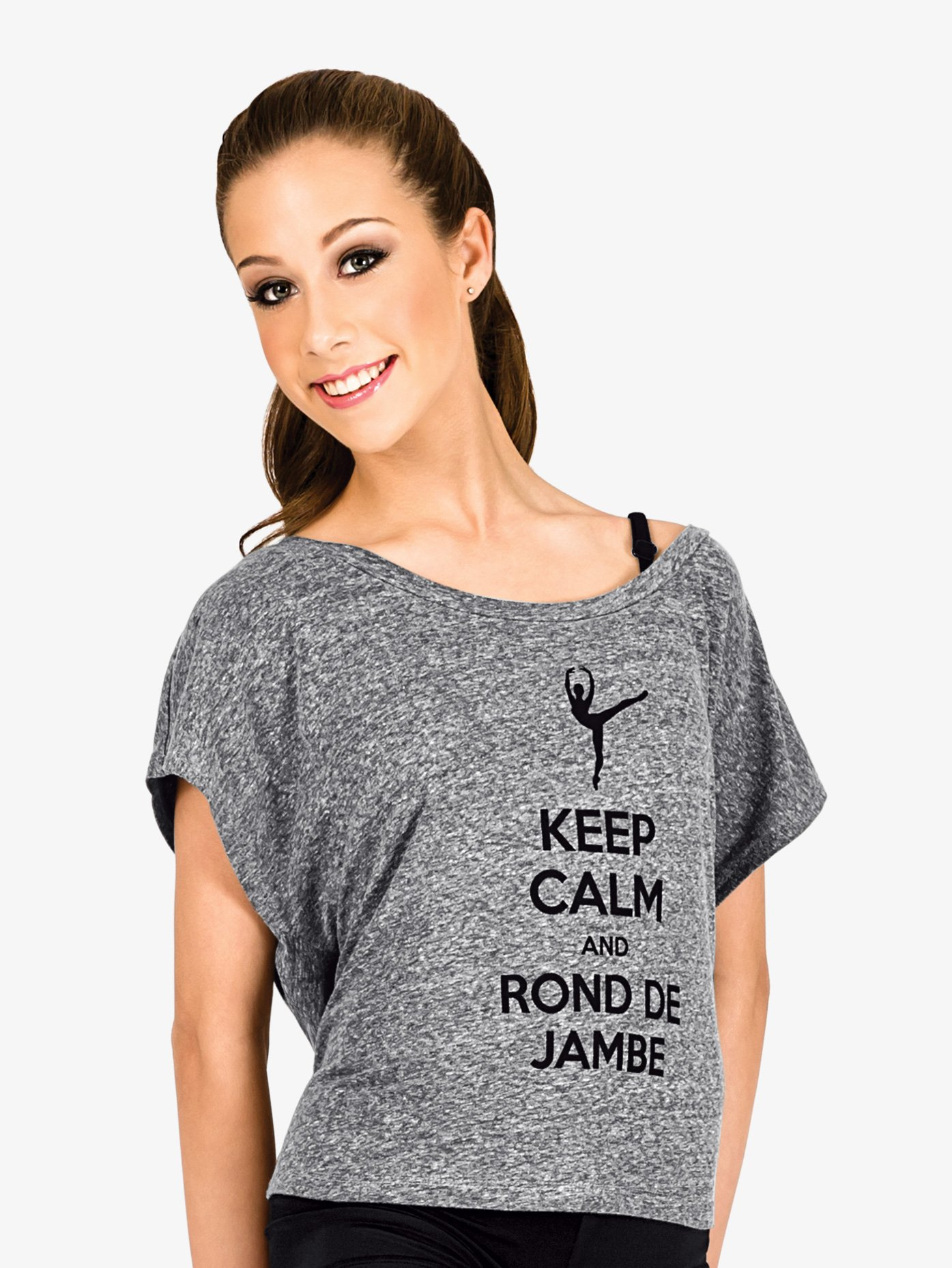 B-YOU Adult Keep Calm and Rond de Jambe T-Shirt FP003