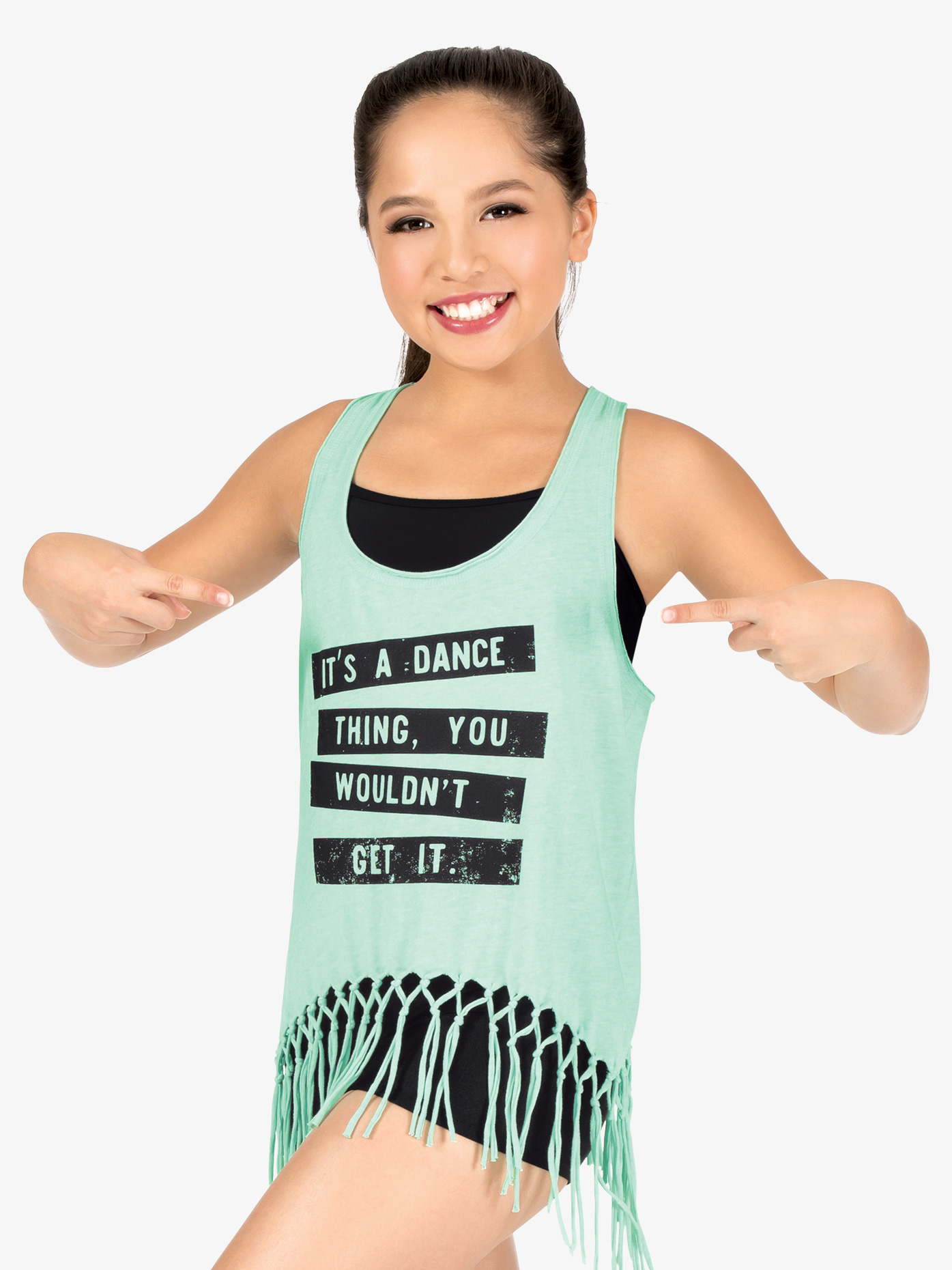 B-YOU Girls It's A Dance Thing Fringe Tank Top FP084C