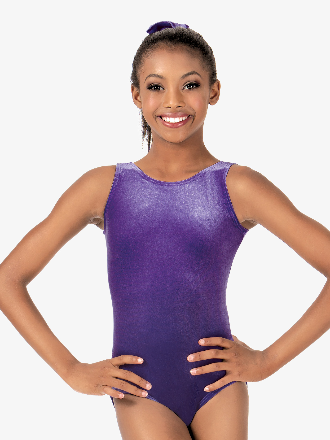 Perfect Balance Child Basic Velvet Tank Leotard G505C