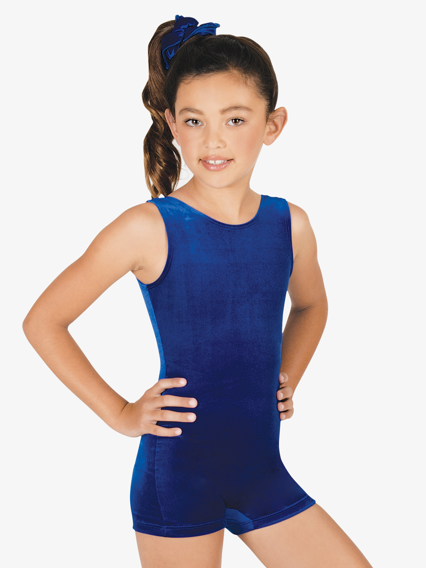 Perfect Balance Child Basic Velvet Shorty Unitard G506C