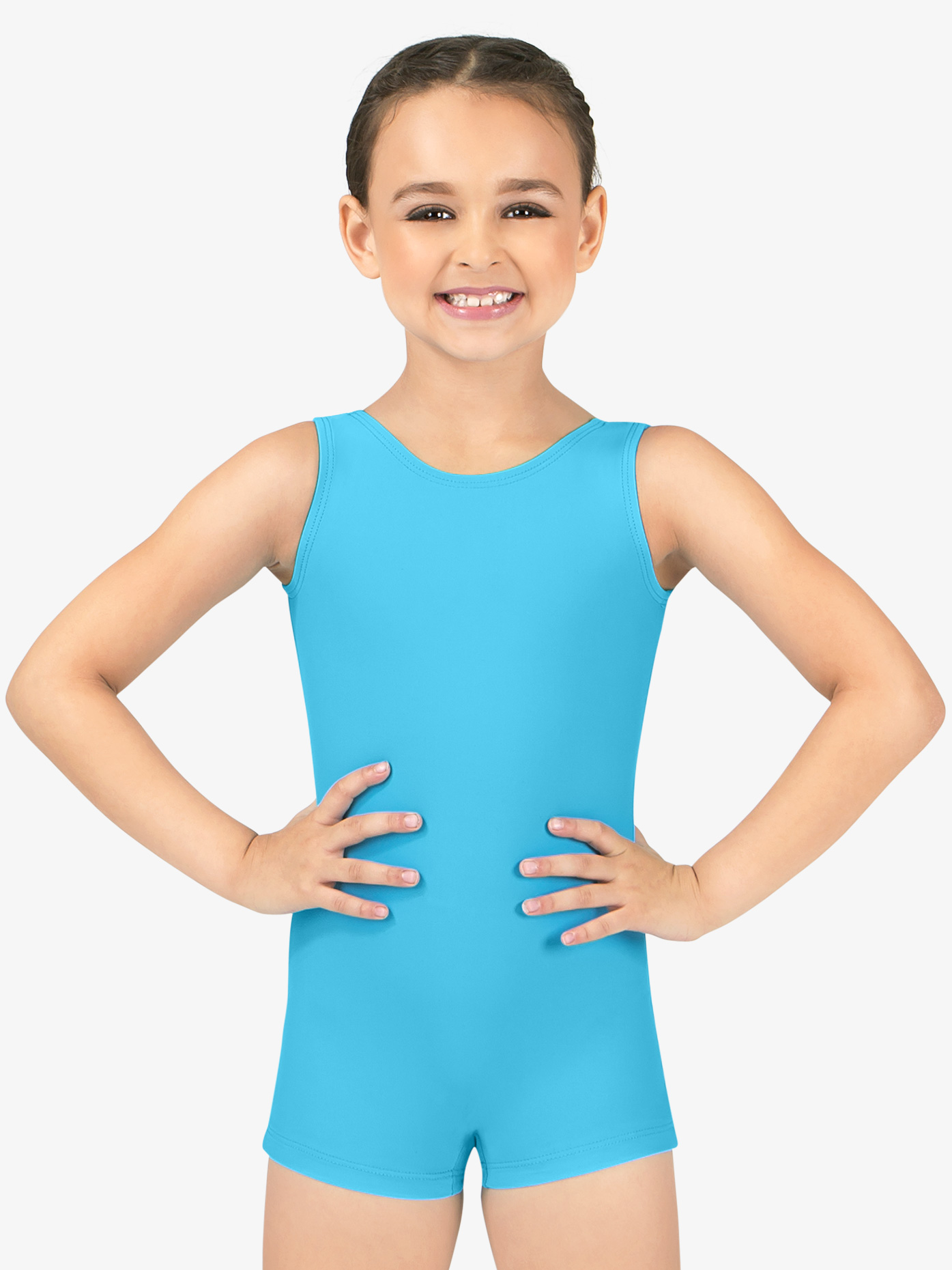 Perfect Balance Child Basic Tank Shorty Unitard G594C