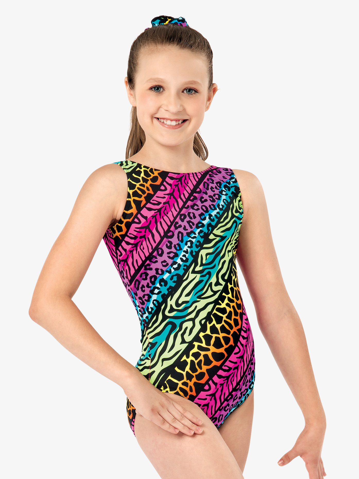 Perfect Balance Girls Jungle Mania Gymnastics Tank Leotard G619C
