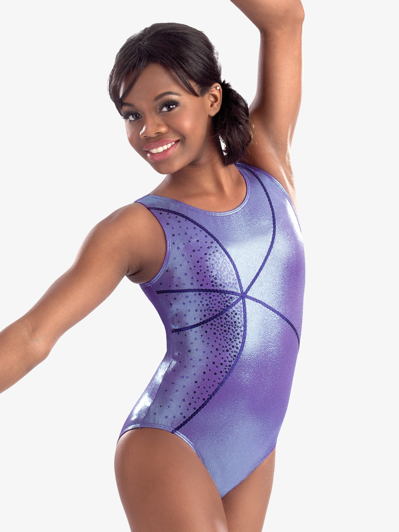 GK Elite Adult Lavender Ice Tank Leotard GK3710
