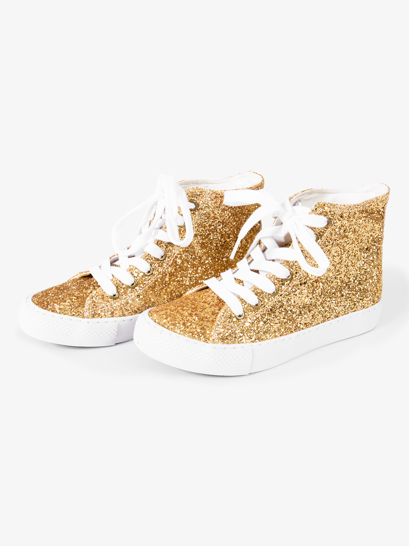 Double Platinum Adult Glitter High Top Sneaker GLITTER