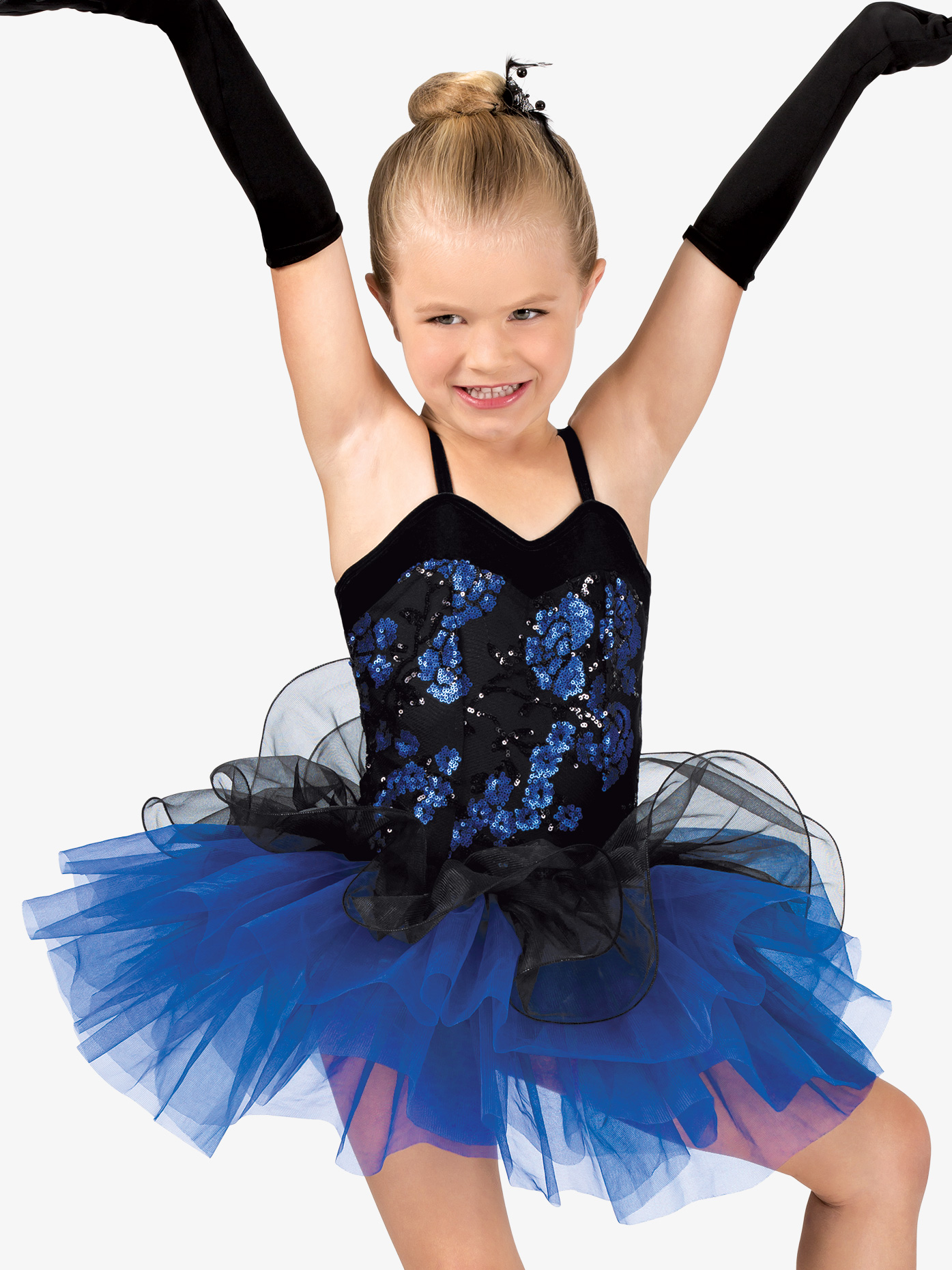 Gracie Girls Floral Sequin Camisole Costume Tutu Dress GRA104