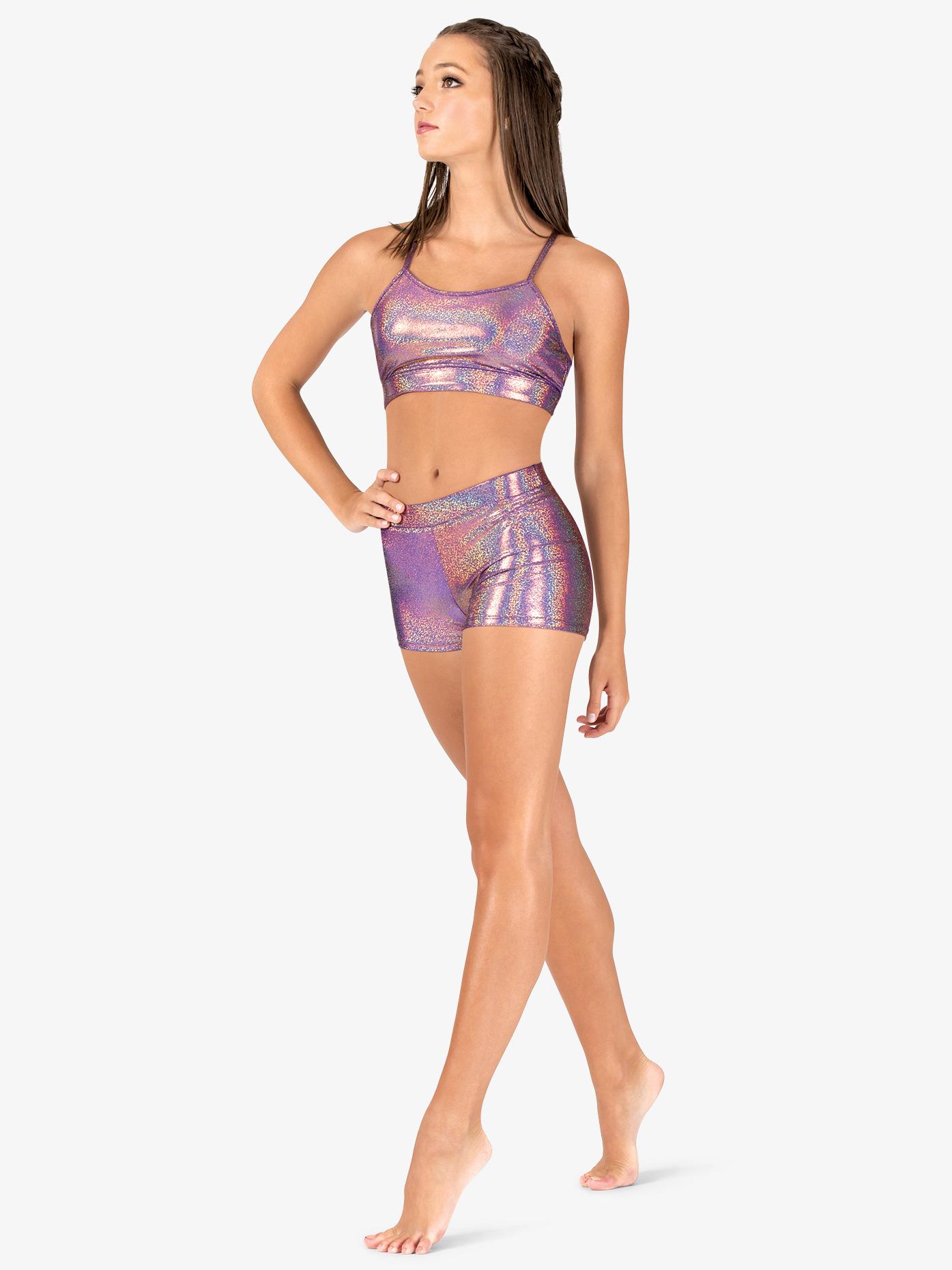 Ingenue Womens Iridescent Basic Performance Shorts ING131