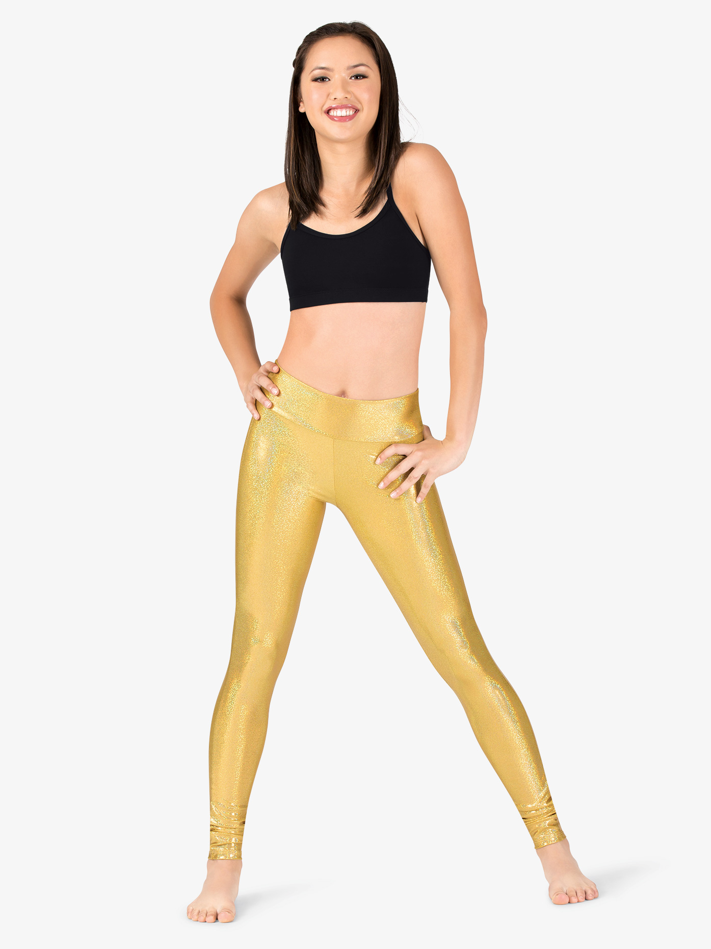 Ingenue Womens Iridescent Performance High Waist Leggings ING135