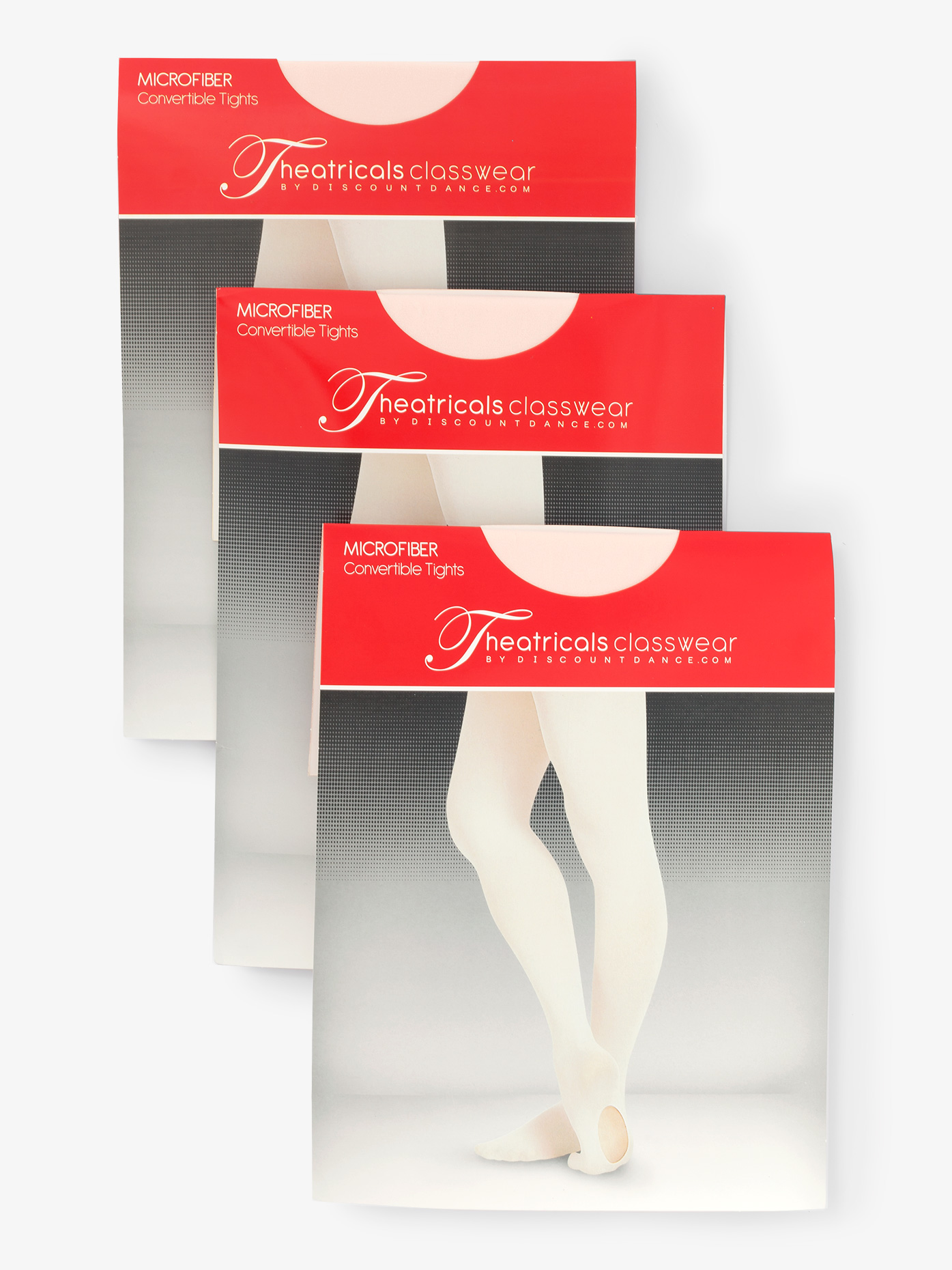 Theatricals Adult Convertible Tights with Smooth Self-Knit Waistband 3 Pack KT5515