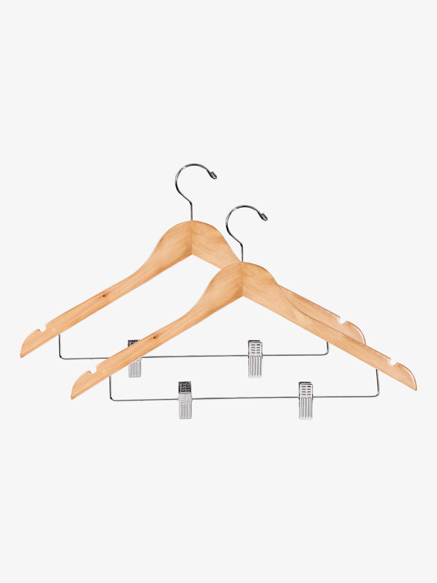 Double Platinum 2-Pack Wooden Hangers KWH1731NC