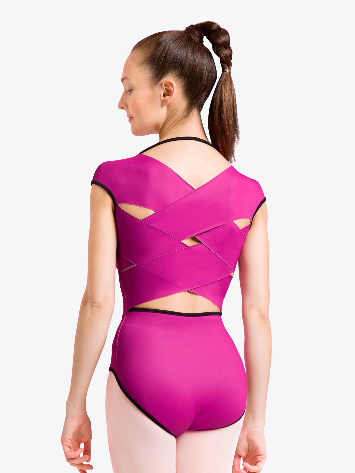 Bloch Womens Reversible Crisscross Cap Sleeve Leotard L1822