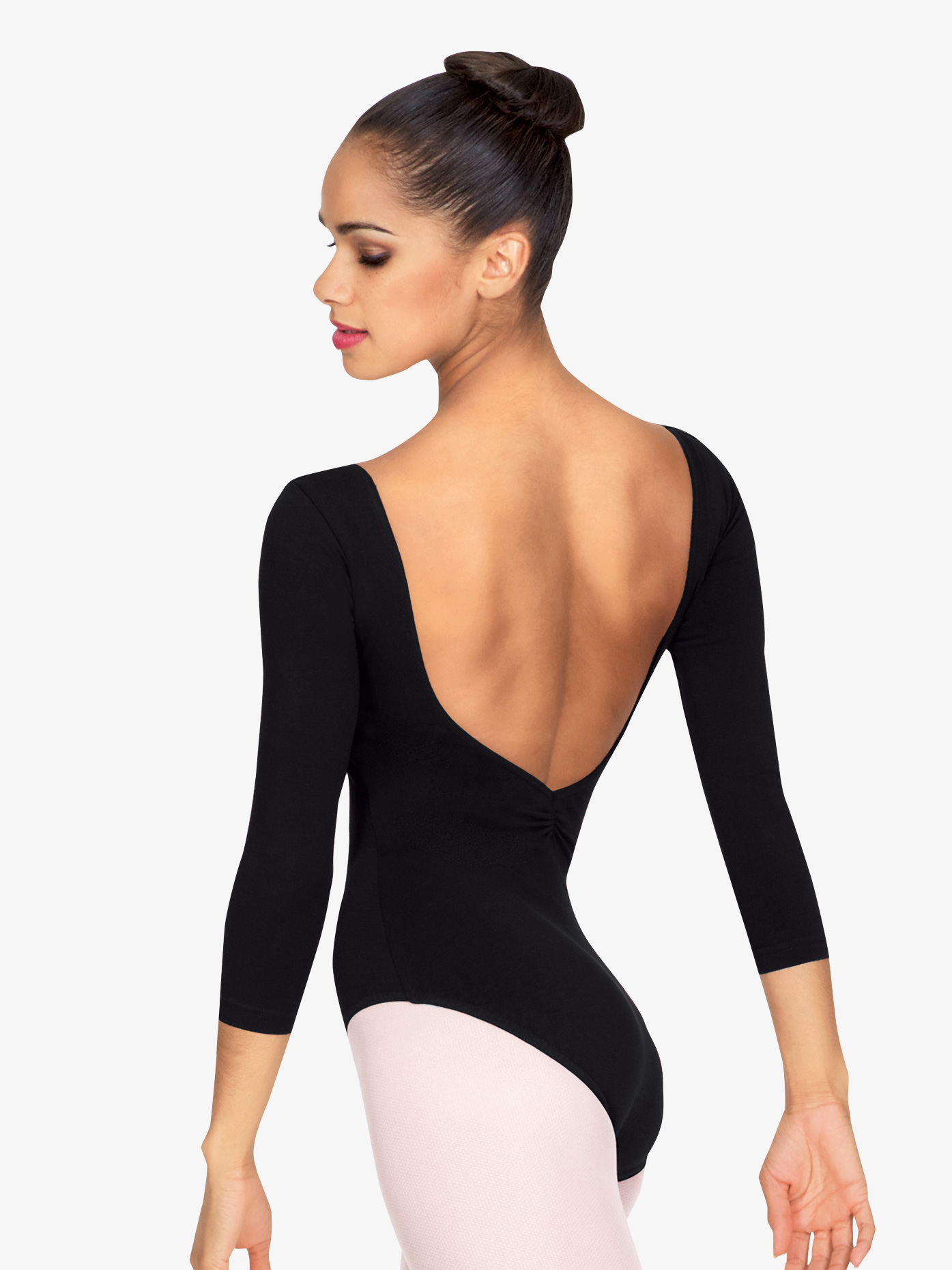 Bloch 3/4 Sleeve V-Front Leotard L5436