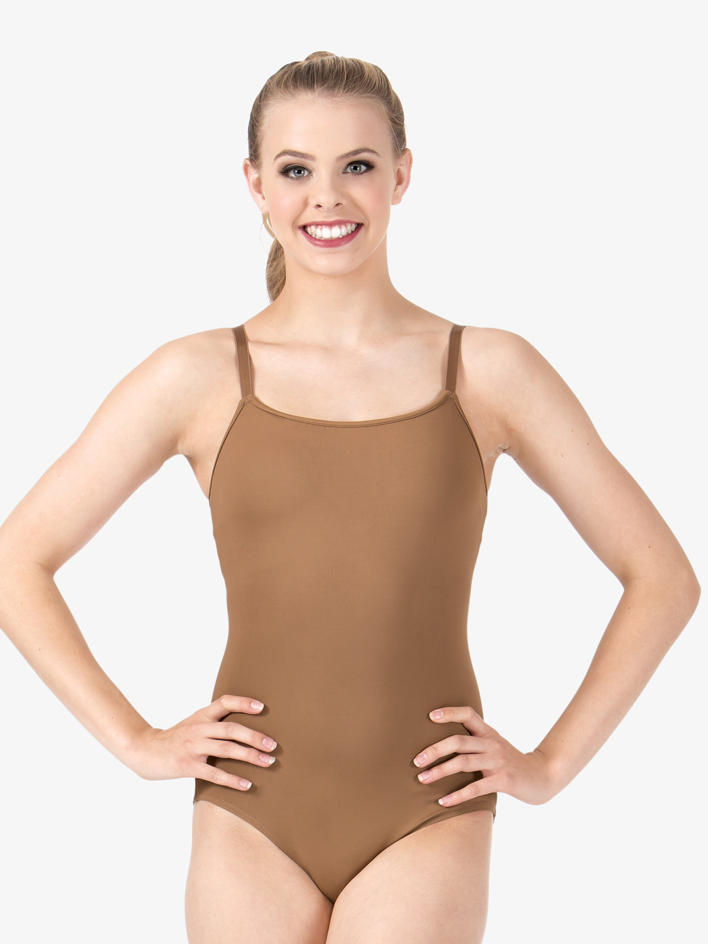 Bloch Womens Adjustable Camisole Leotard with Attached Bra L8730