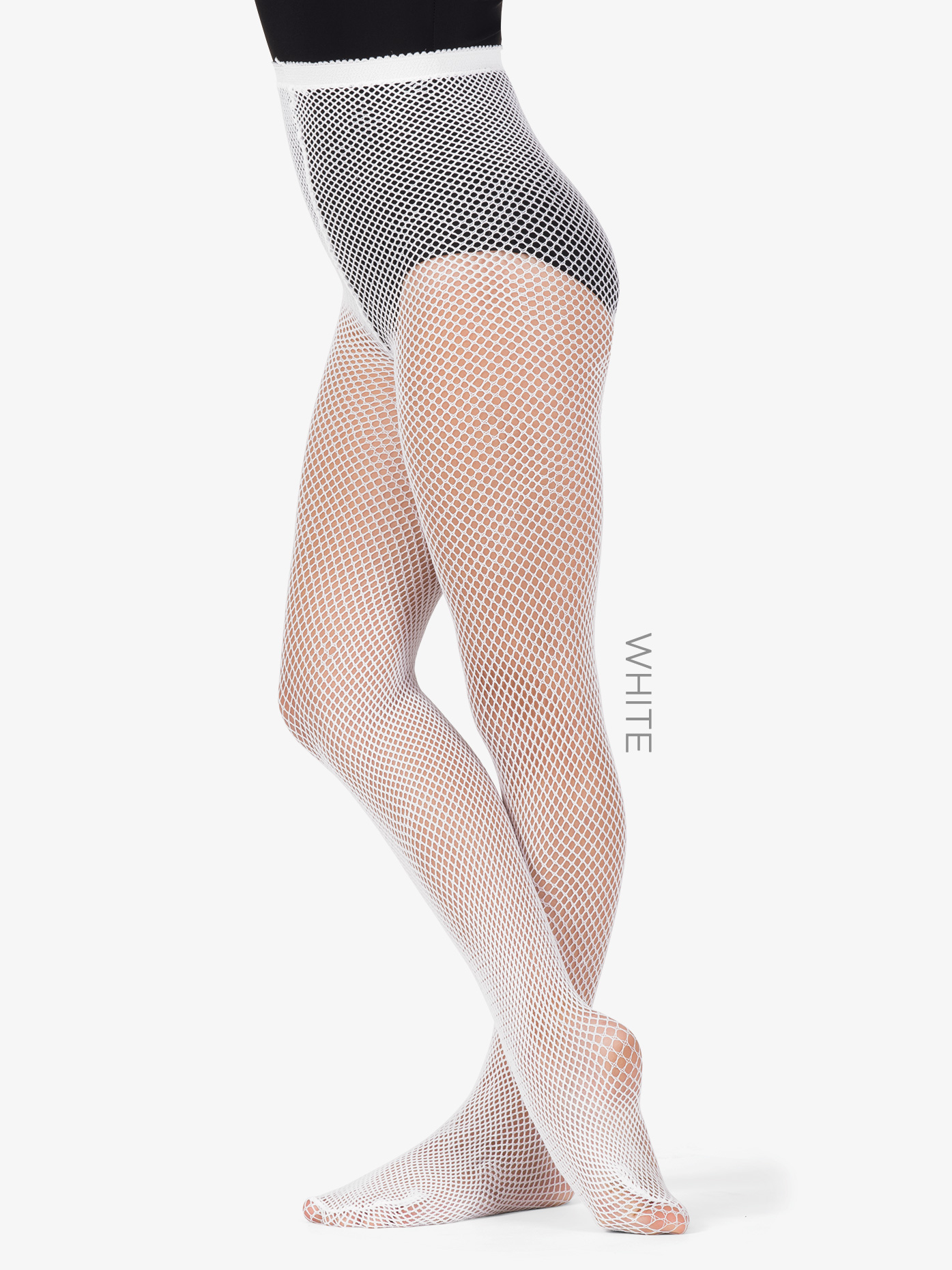 34f5153d57d Girls Footed Fishnet Dance Tights - Style No LA4067. Loading zoom