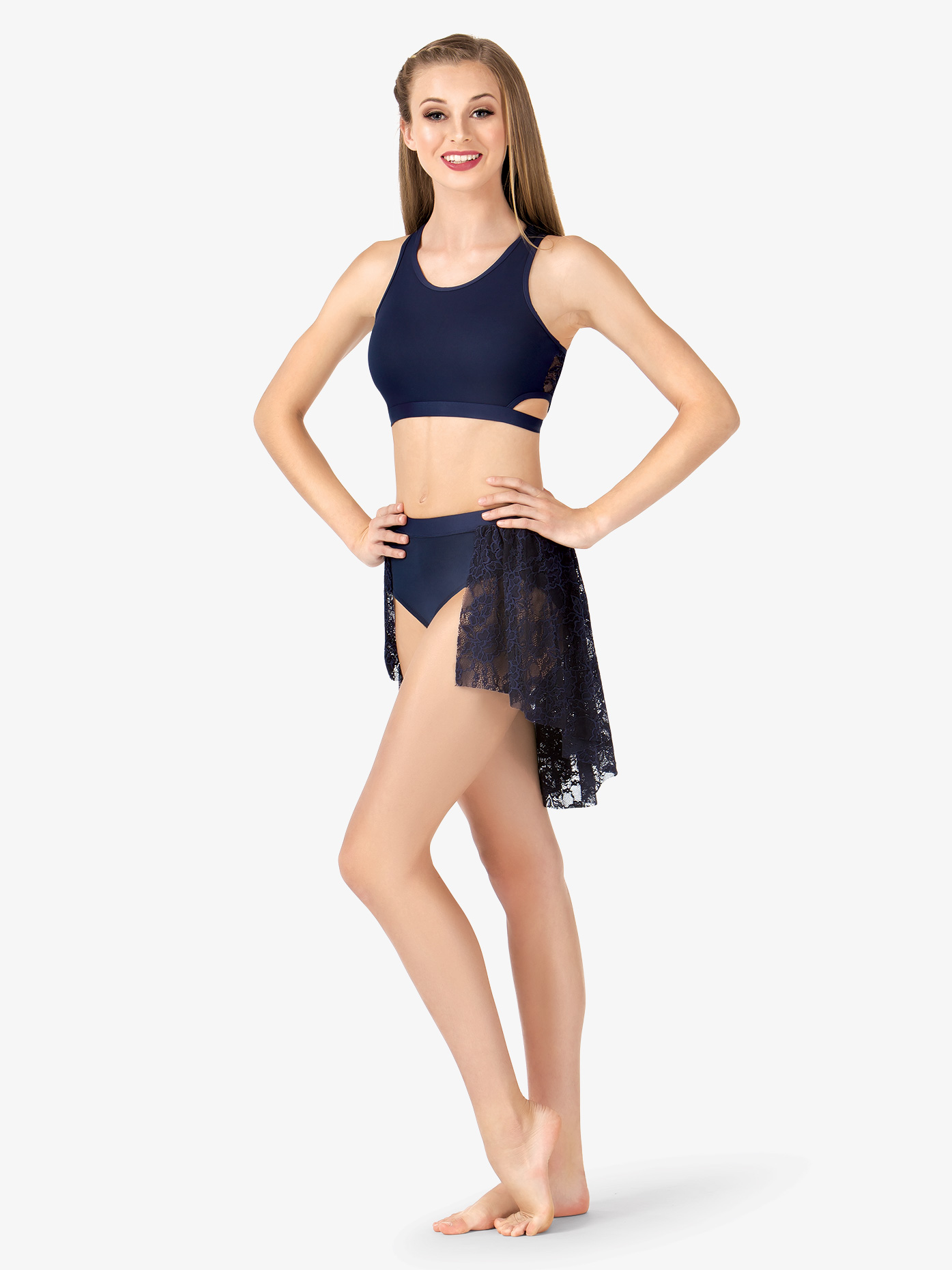 Body Wrappers Adult Back Drape Lace Half Skirt LC9111