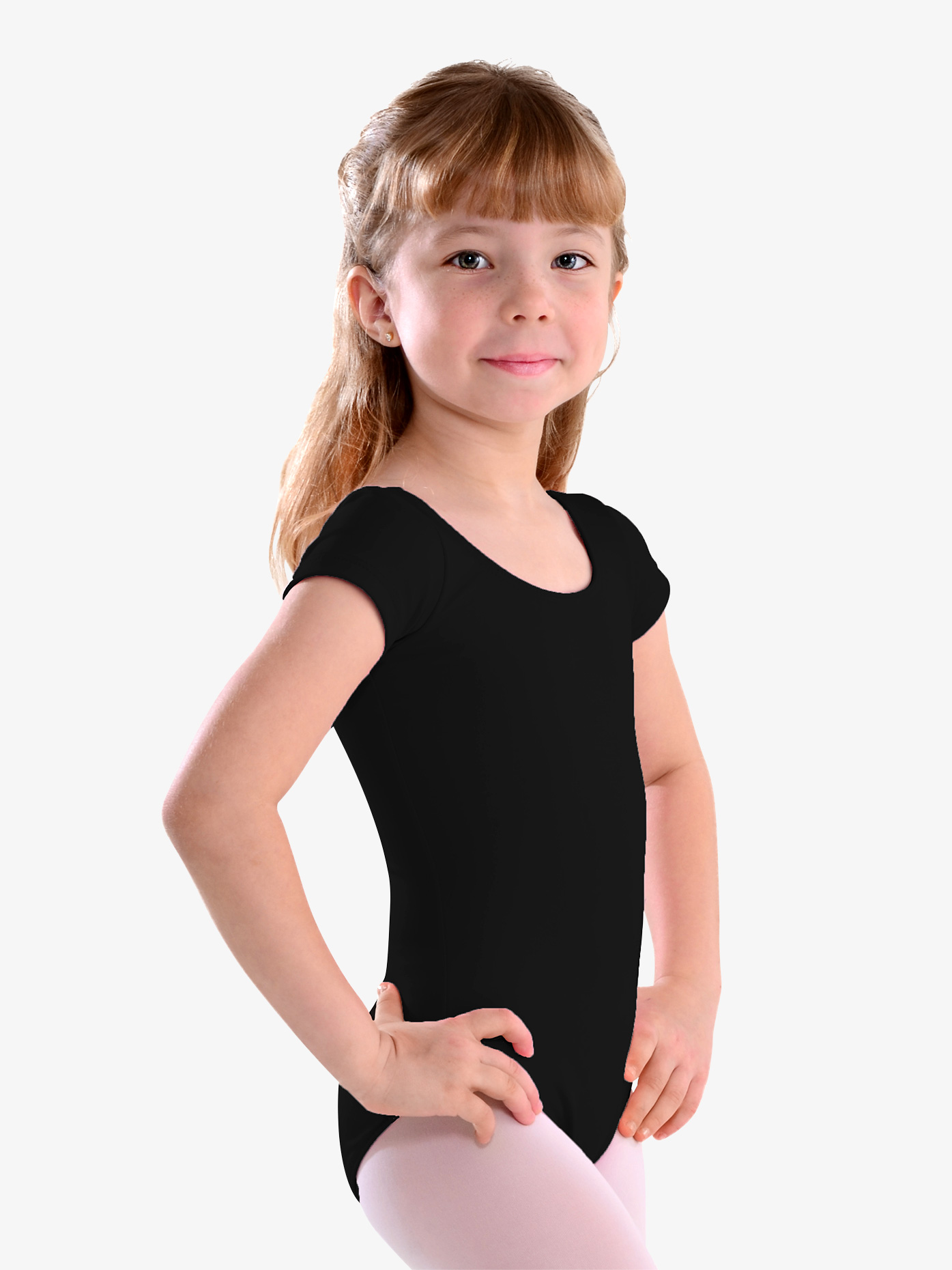 So Danca Girls Cap Sleeve Leotard LO06