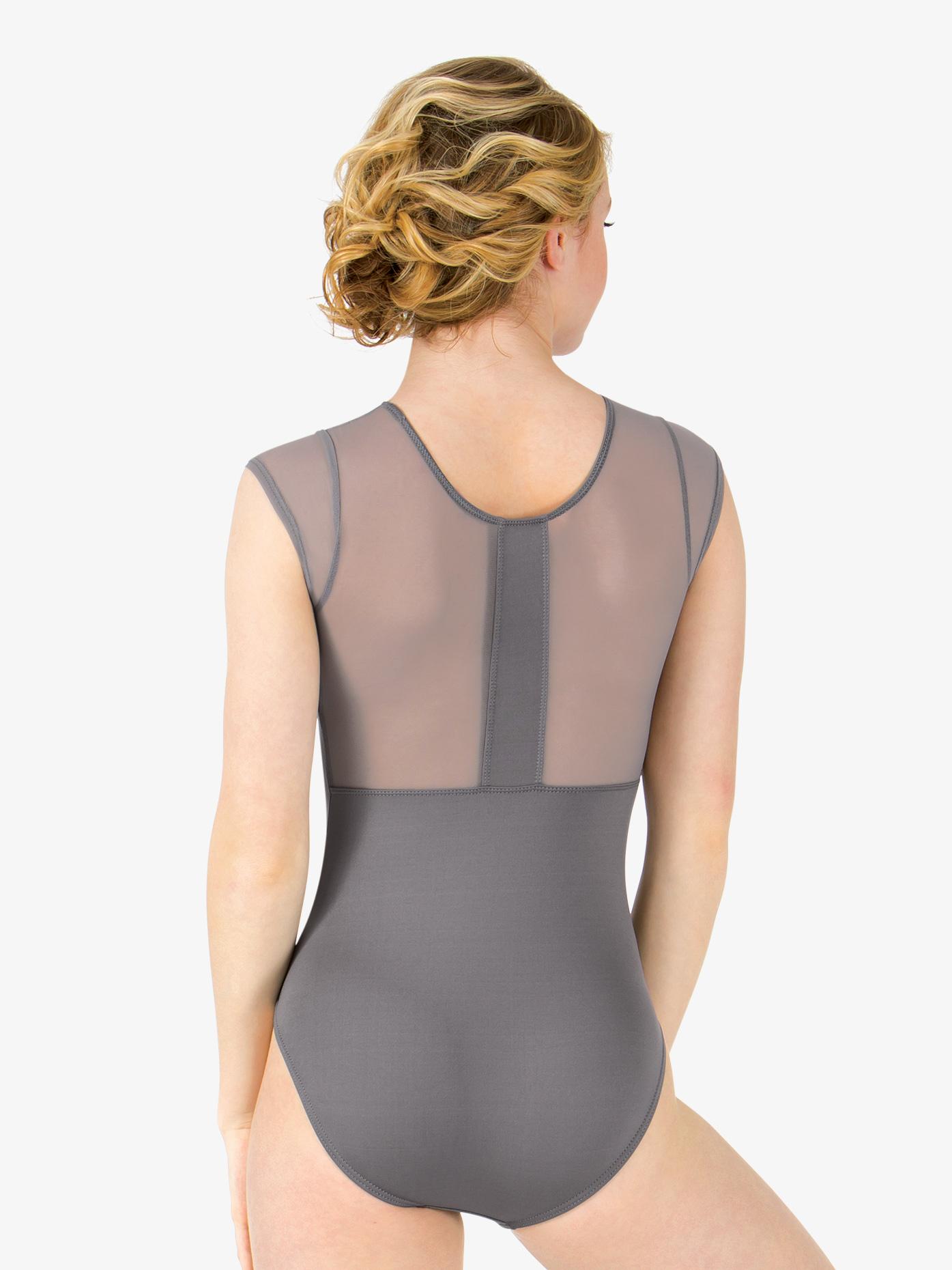 Motionwear Womens Mesh Back Short Sleeve Leotard M2759