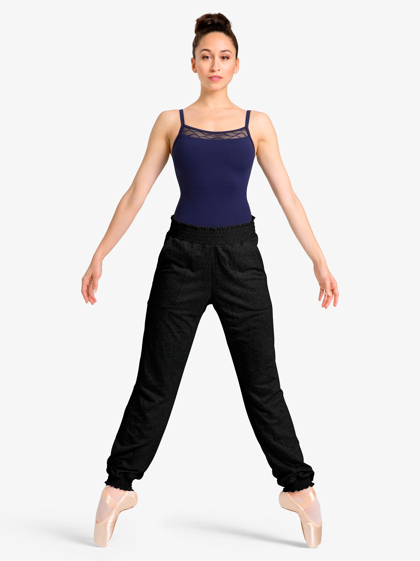 Mirella Womens Gathered Waistband Warm Up Sweat Pants M6036L