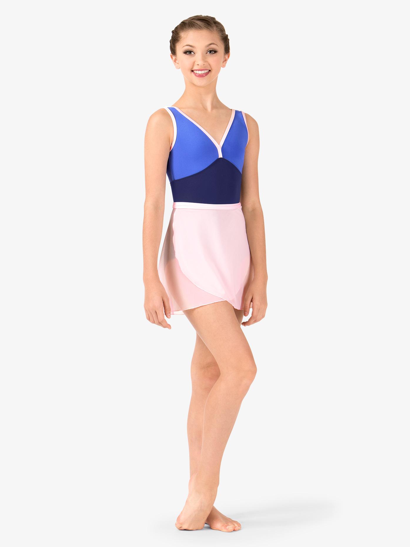 Mariia Girls Nikita Mesh Dance Wrap Skirt ME549C