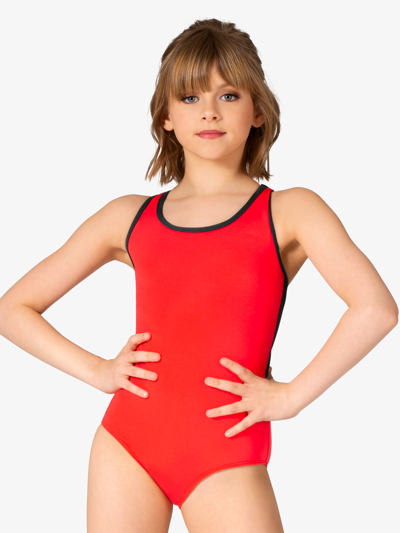 Mariia Girls Stella Mesh Back Tank Leotard ME569C