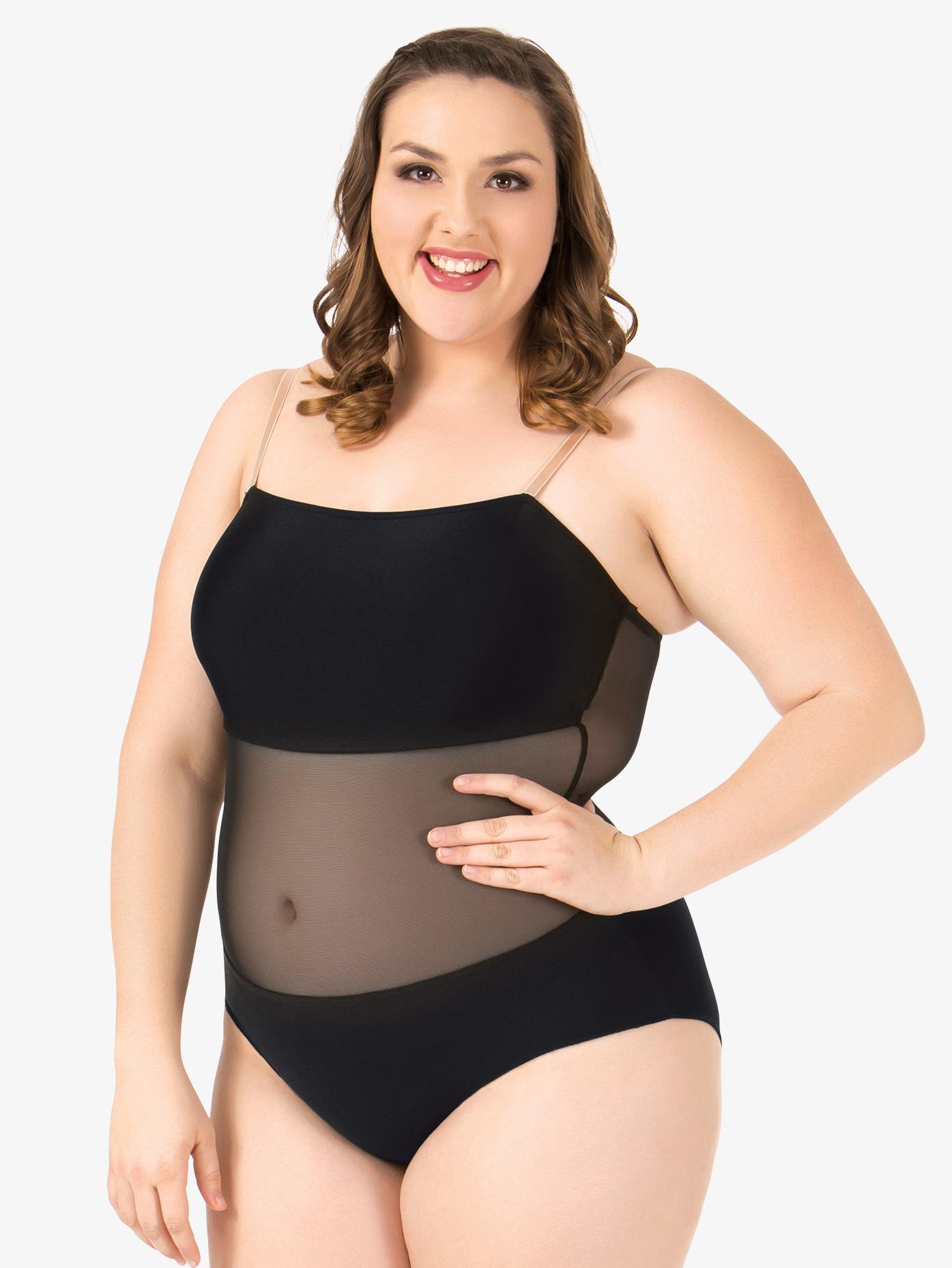 Natalie Plus Size Undercover Camisole Undergarment Leotard N237W