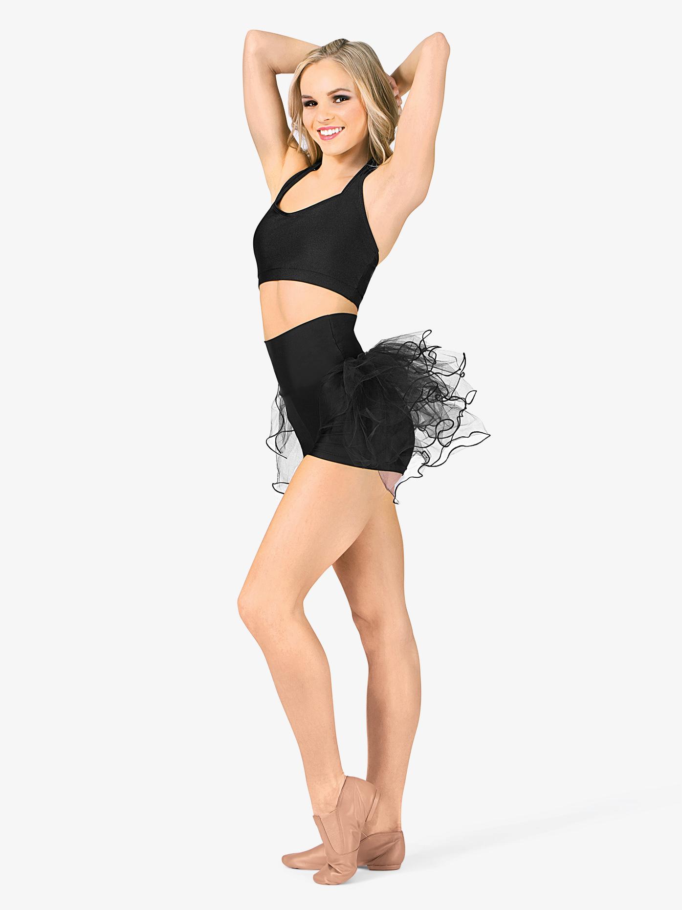 Double Platinum Adult High Waist Bustle Dance Shorts N7125