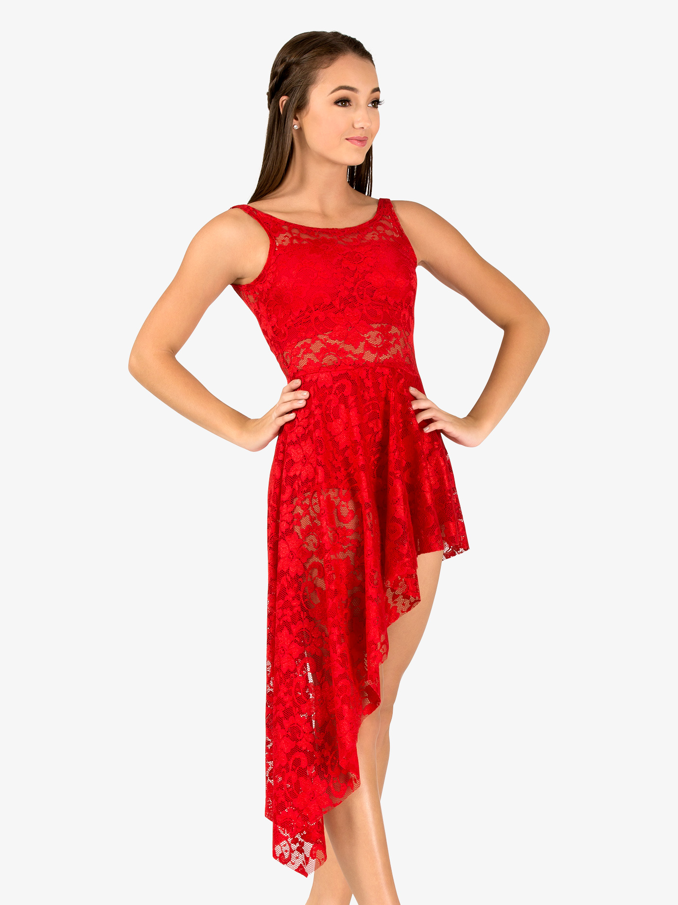 Double Platinum Adult Emballe Long Lace Overdress N7261