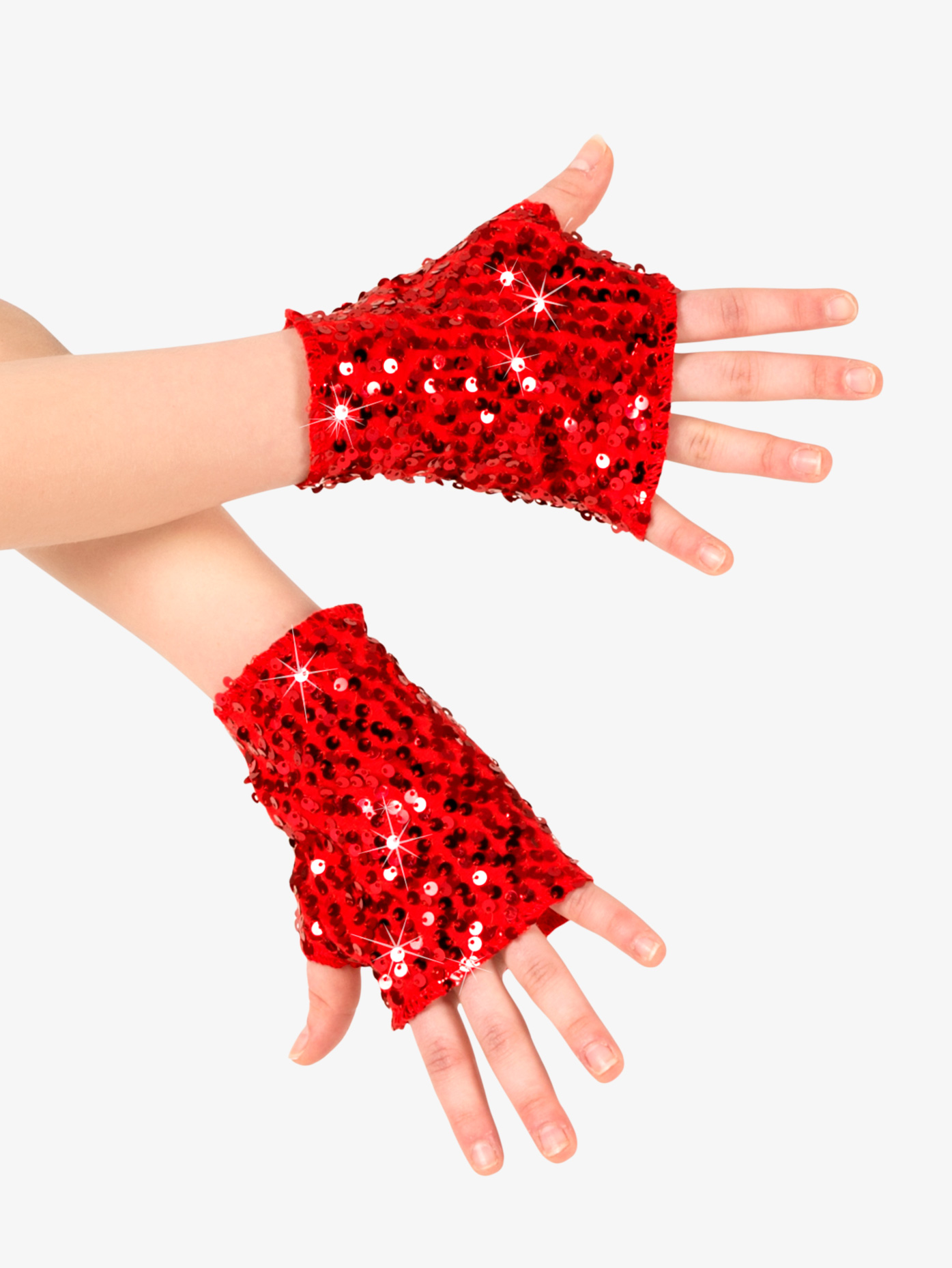 Double Platinum Adult Sequin Mitts N7303