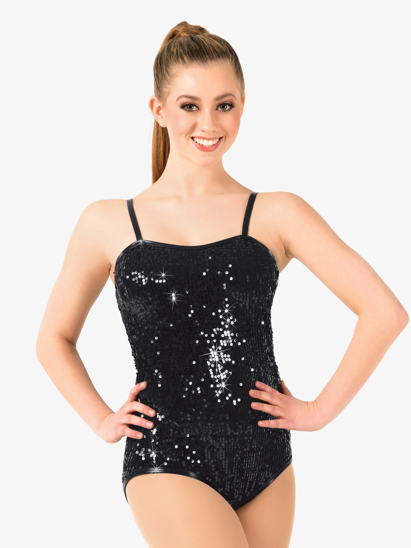 Double Platinum Adult Sequin Camisole Leotard N7309