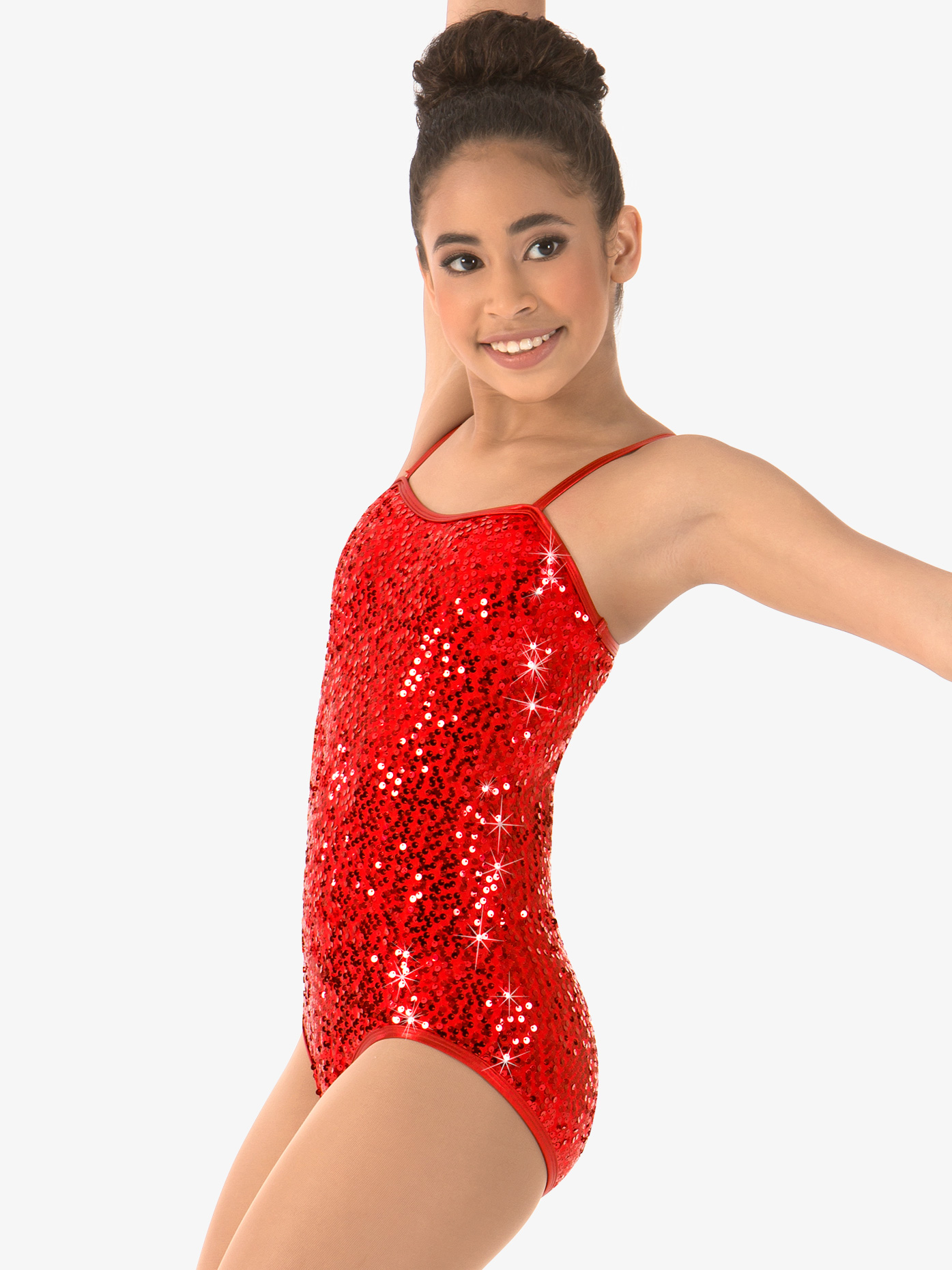 Double Platinum Girls Sequin Camisole Leotard N7309C