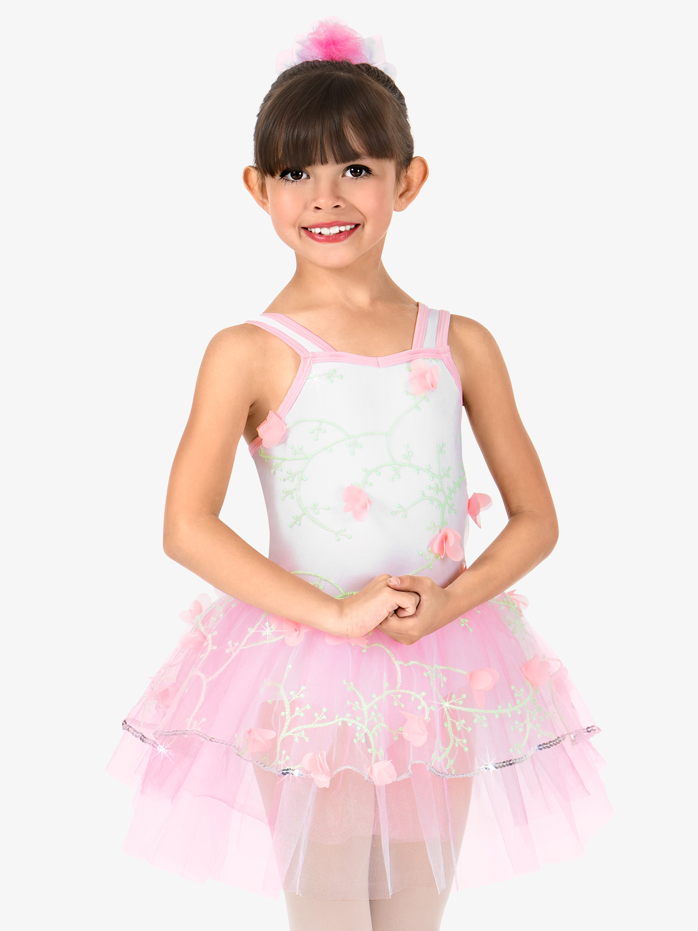 Gracie Girls 3-D Floral Tank Performance Tutu Dress N7410C