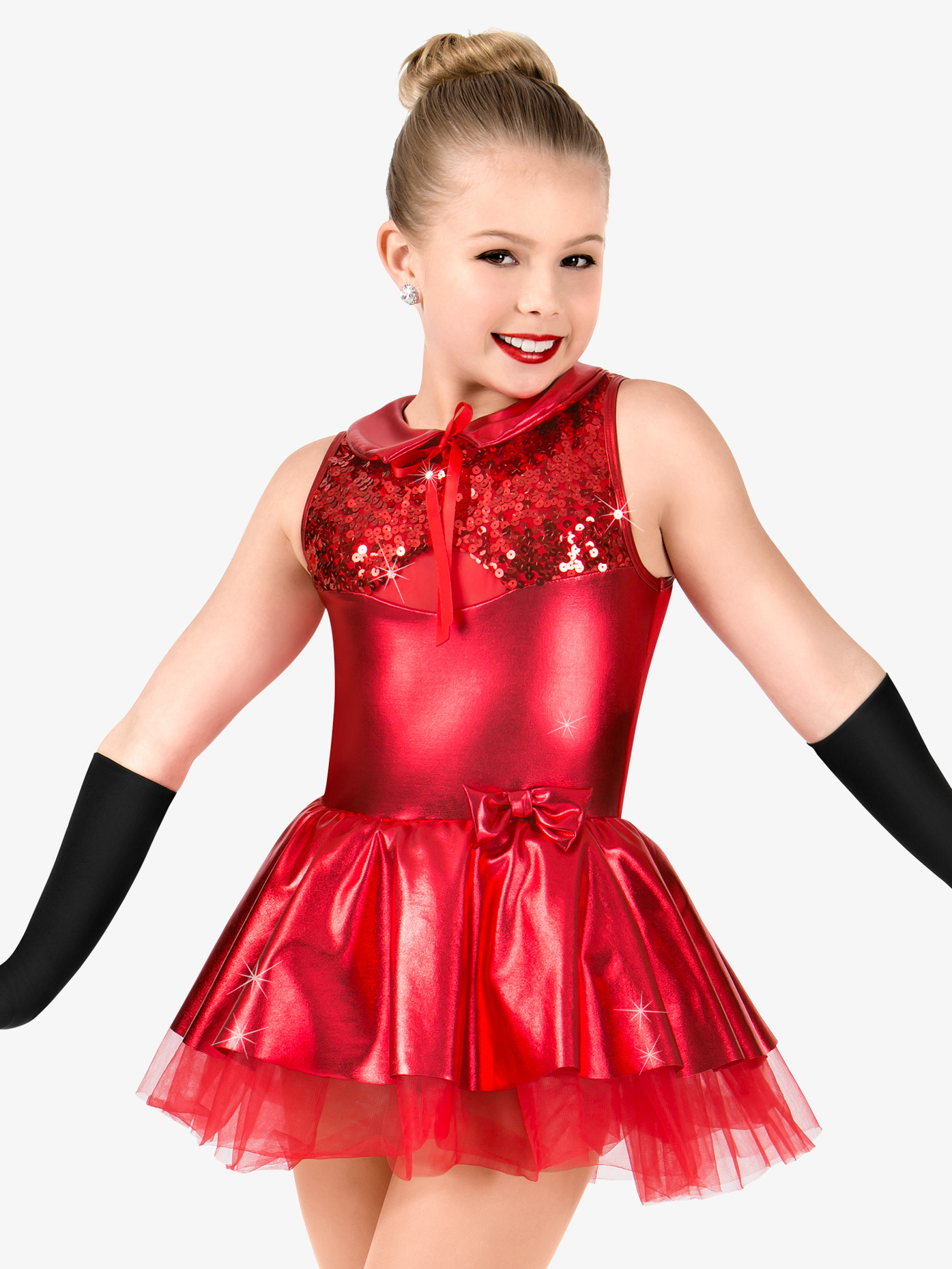 Gracie Girls Metallic Tank Performance Tutu Dress N7430C