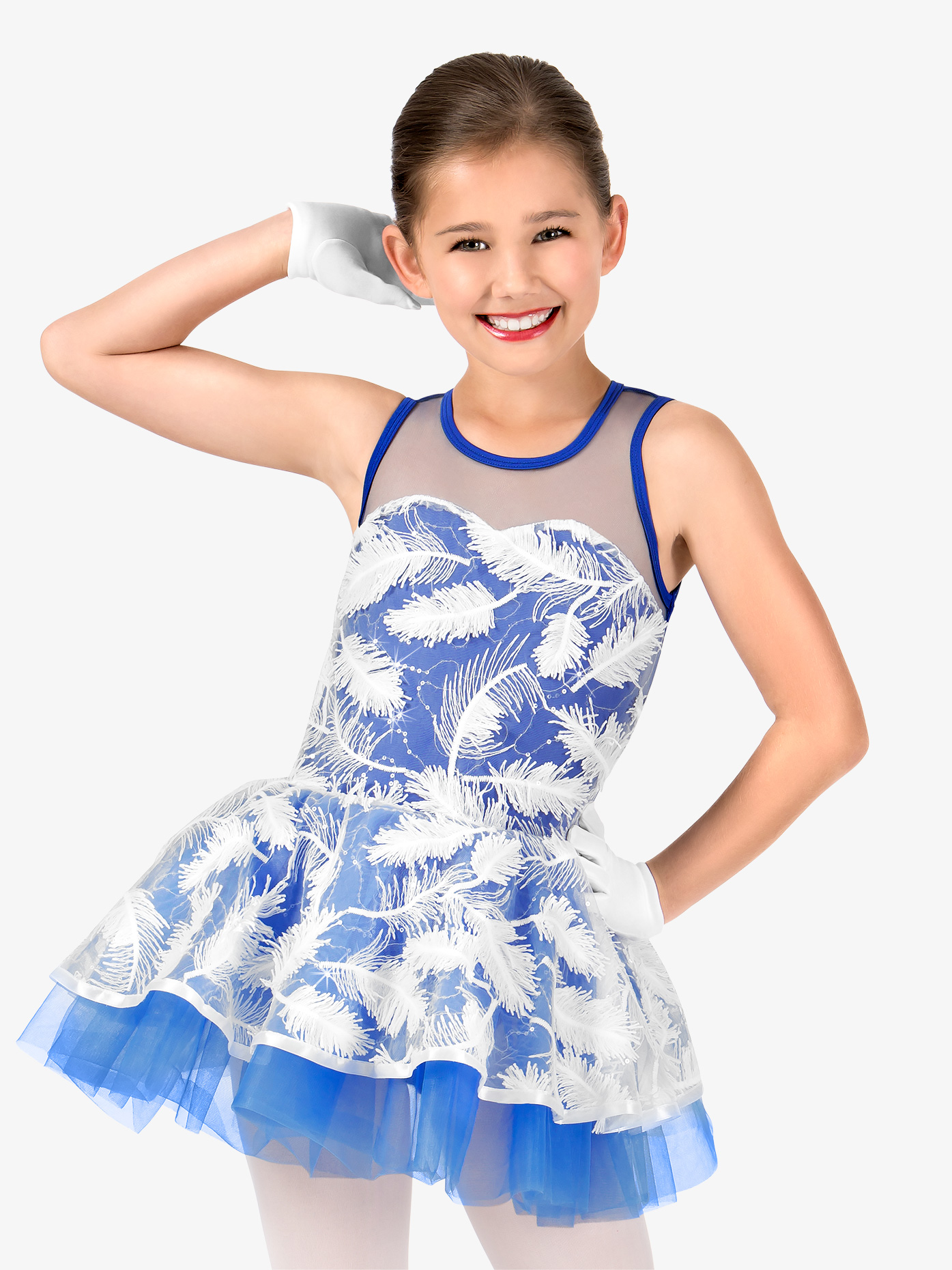 Gracie Girls 3-D Feather Tank Costume Tutu Dress N7431C