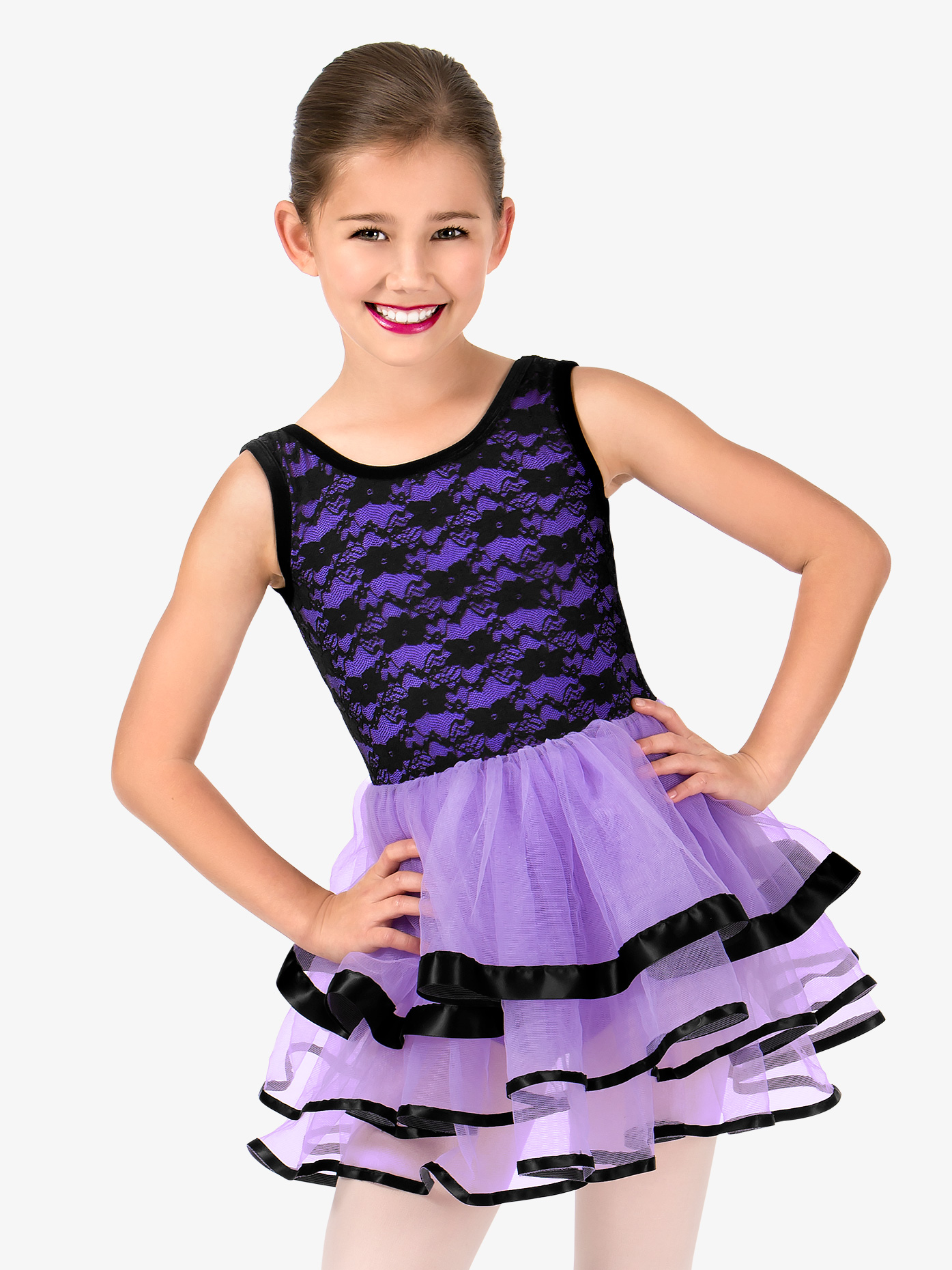 Gracie Girls Floral Lace Tank Ballet Tutu Dress N7453C