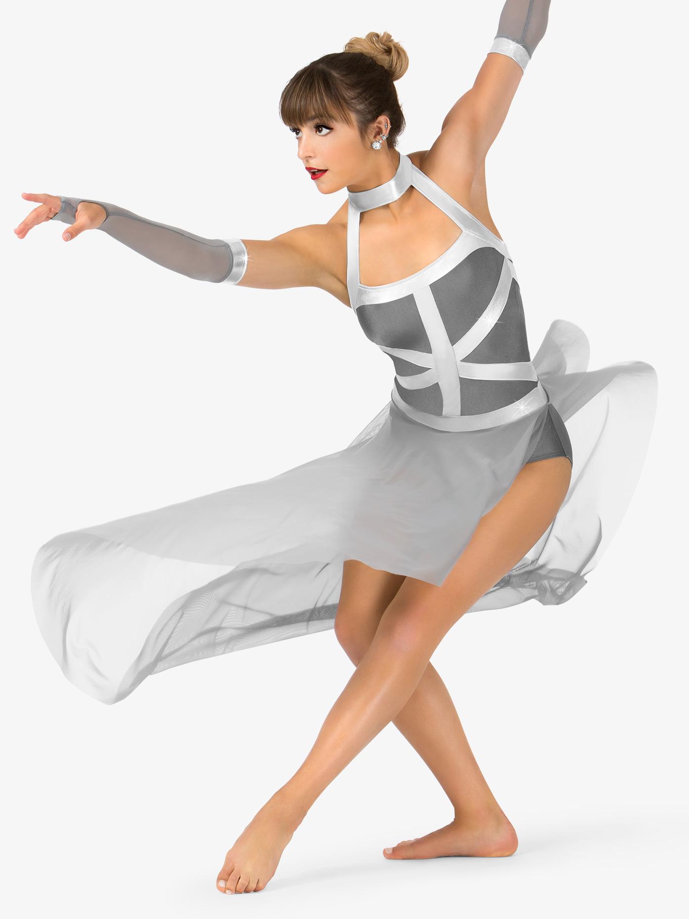 Elisse by Double Platinum Womens Asymmetrical Tank Performance Dress Set N7462