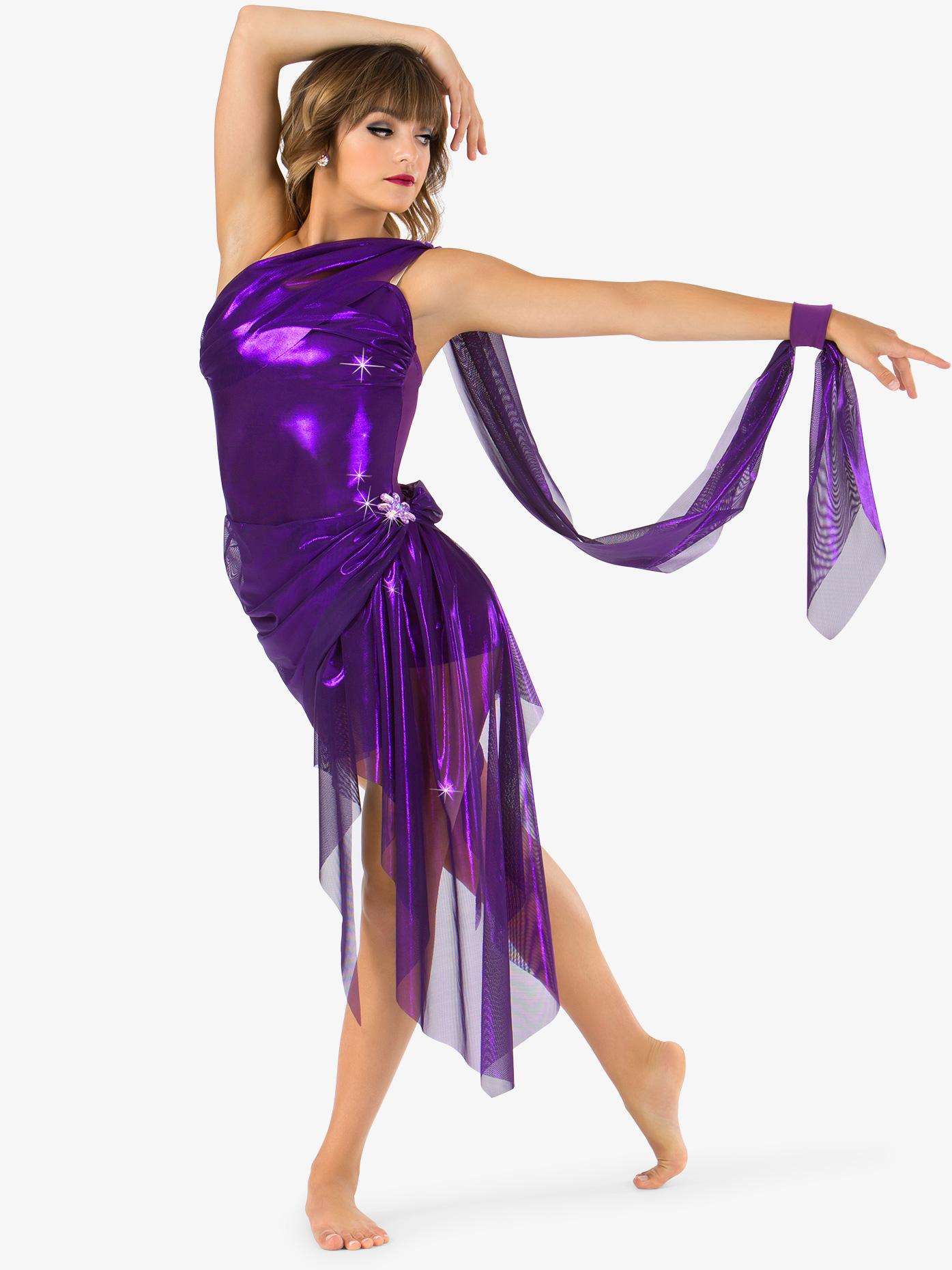 Elisse by Double Platinum Womens Glitter Mesh Bustled Performance Shorty Unitard N7470