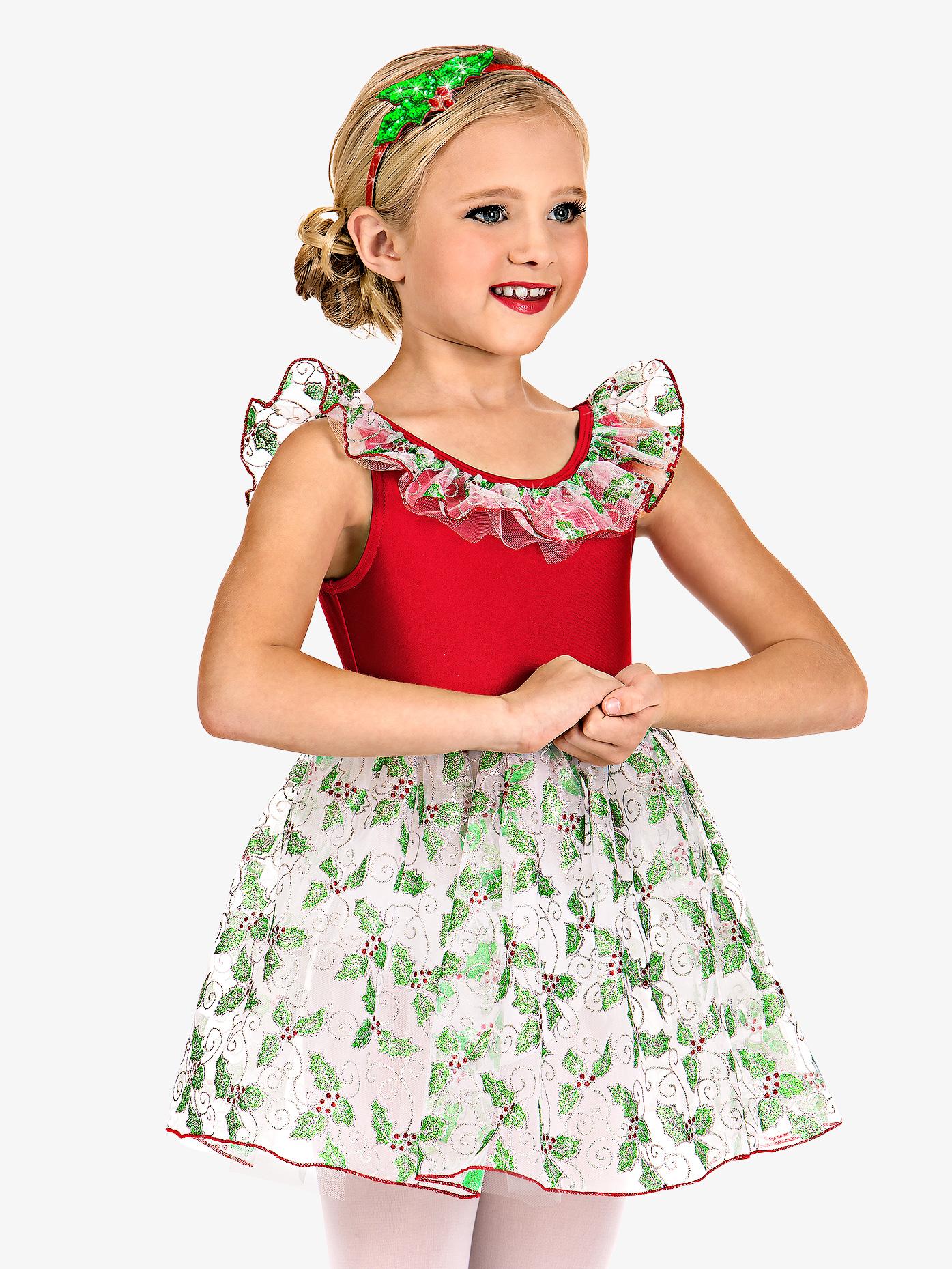 Double Platinum Girls Holly Print Tank Dress Set N7506C