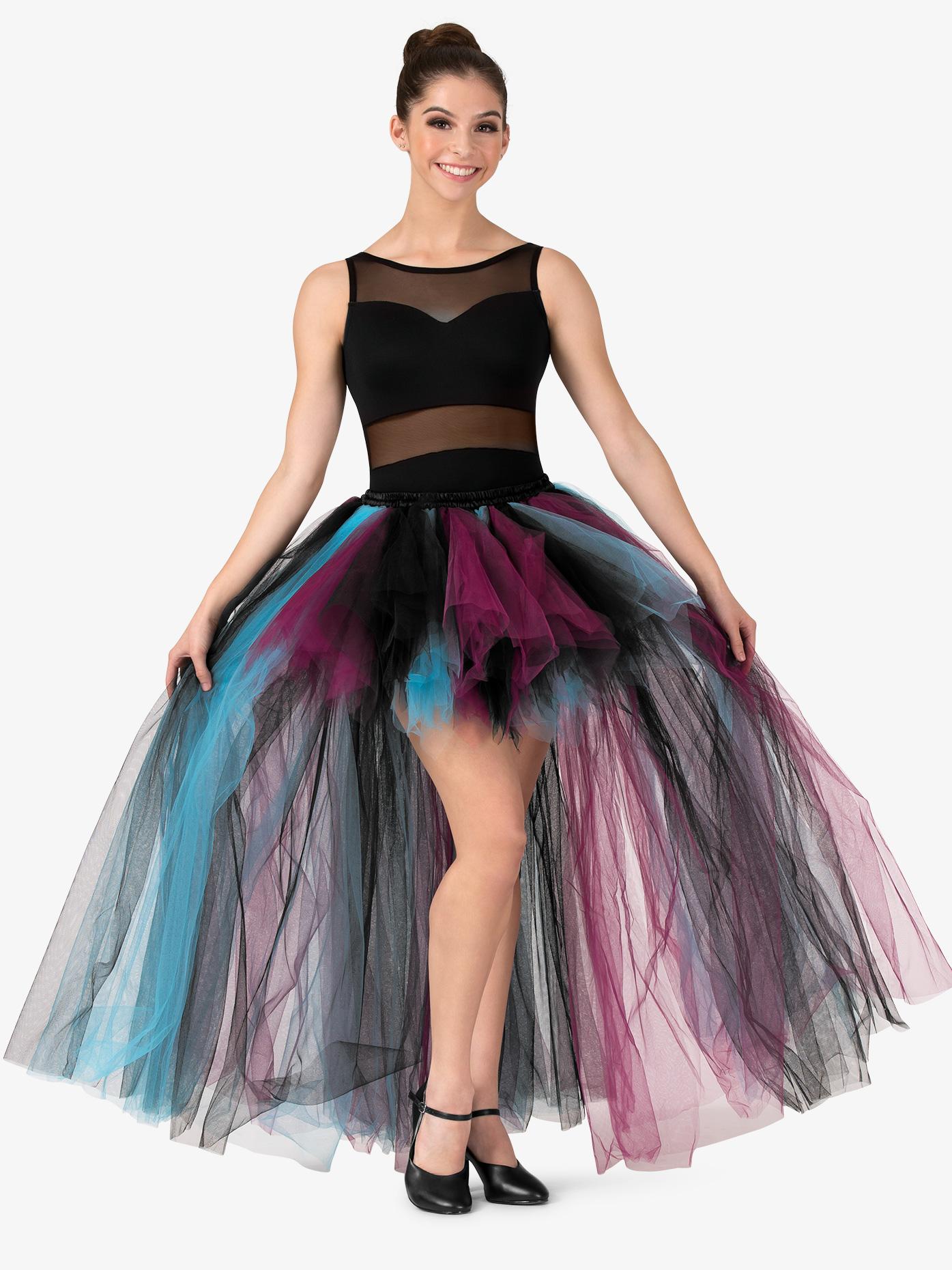 Double Platinum Womens High-Low Mesh Tutu Skirt N7539