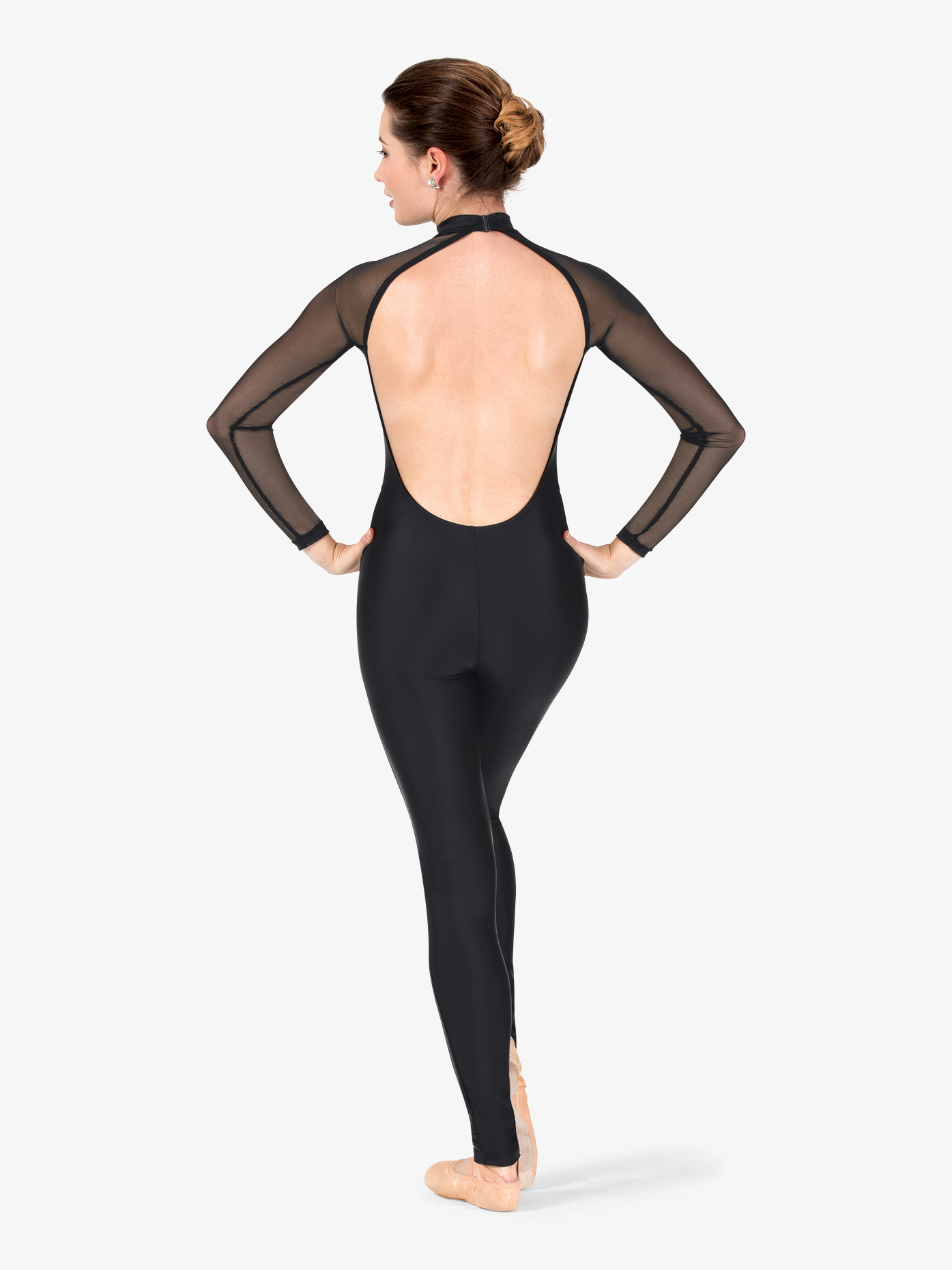 Womens Performance Plunging Mesh Long Sleeve Unitard ...