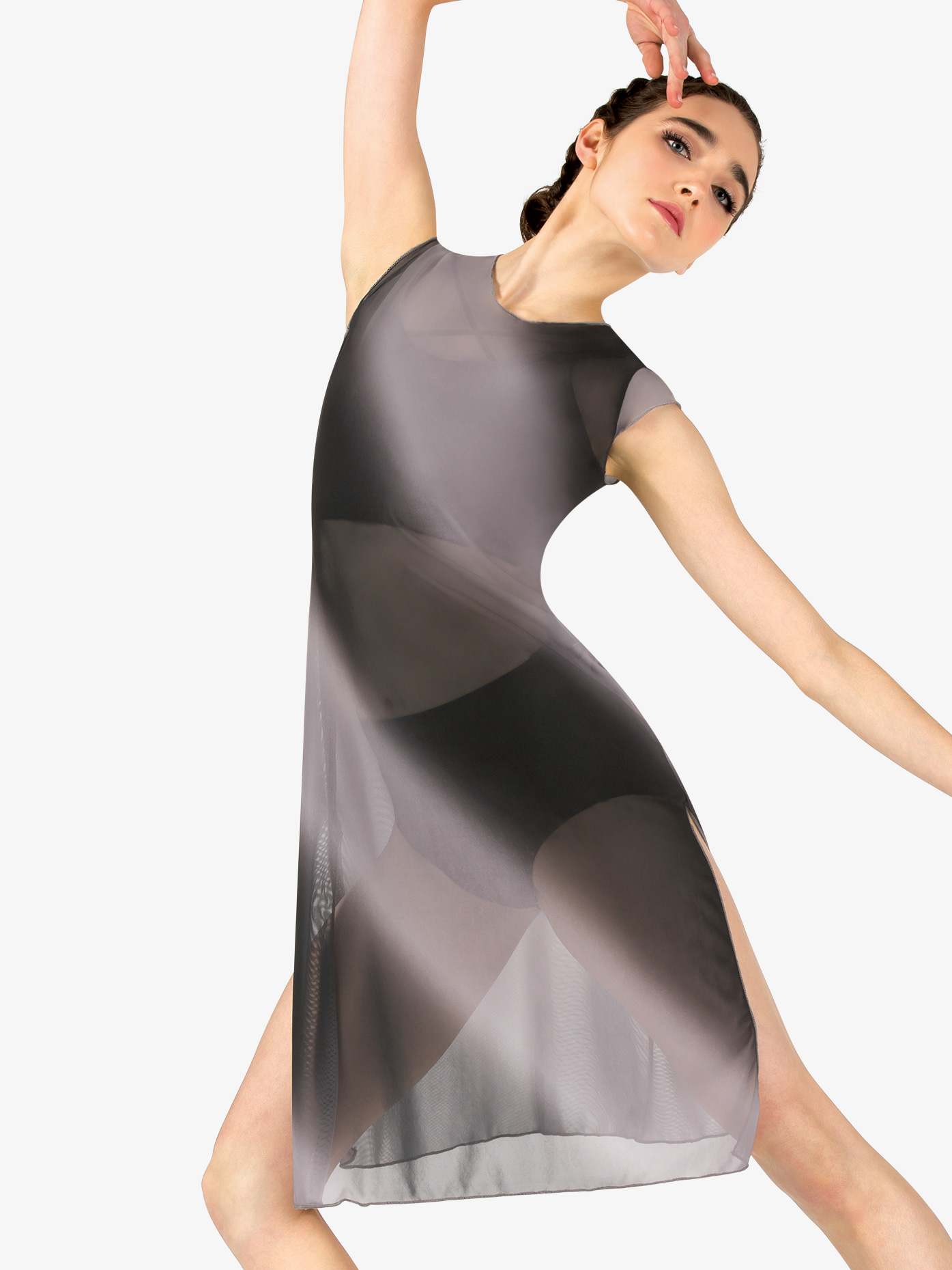 62dc74387f5f6e Womens Performance Ombre Mesh Short Sleeve Tunic - Style No N7779. Loading  zoom