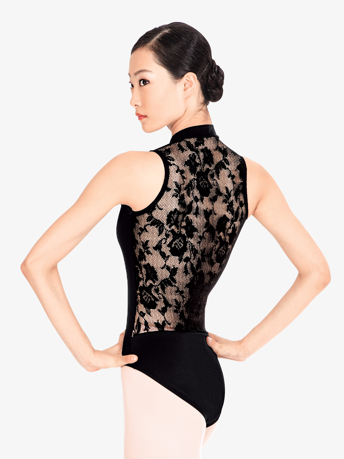 Natalie Lace Back Tank Leotard N8699